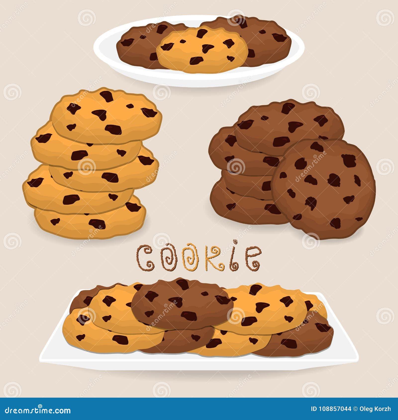 Wektorowej ikony ilustracyjny logo dla palowych domowej roboty ciastek