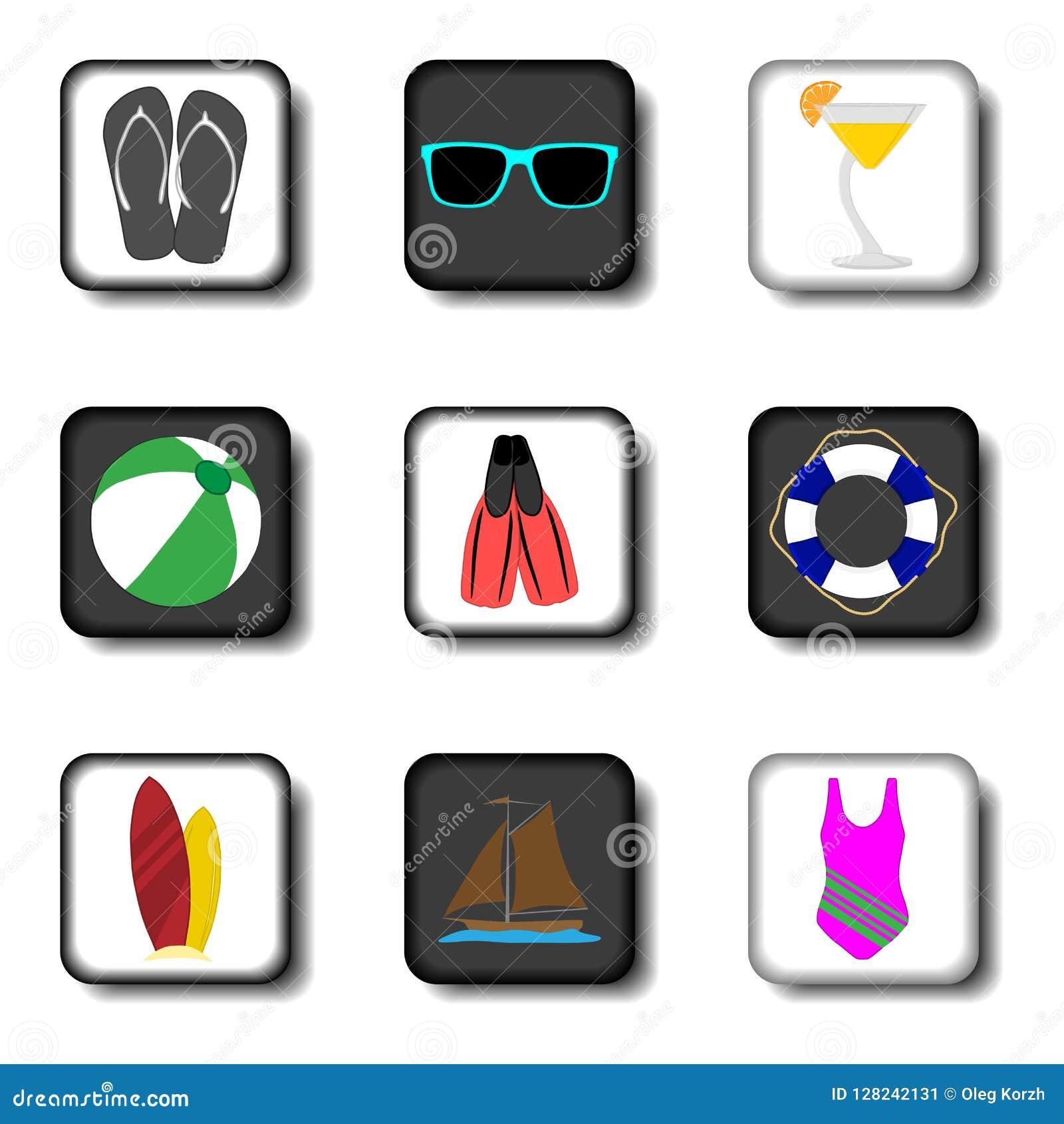 Wektorowej ikony ilustracyjny logo dla ustalonych symboli/lów na mieszkaniu barwił bu
