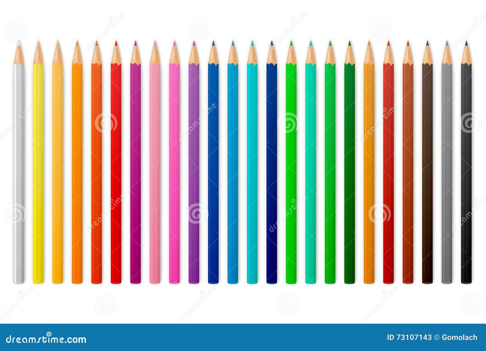 Wektorowi colour ołówki