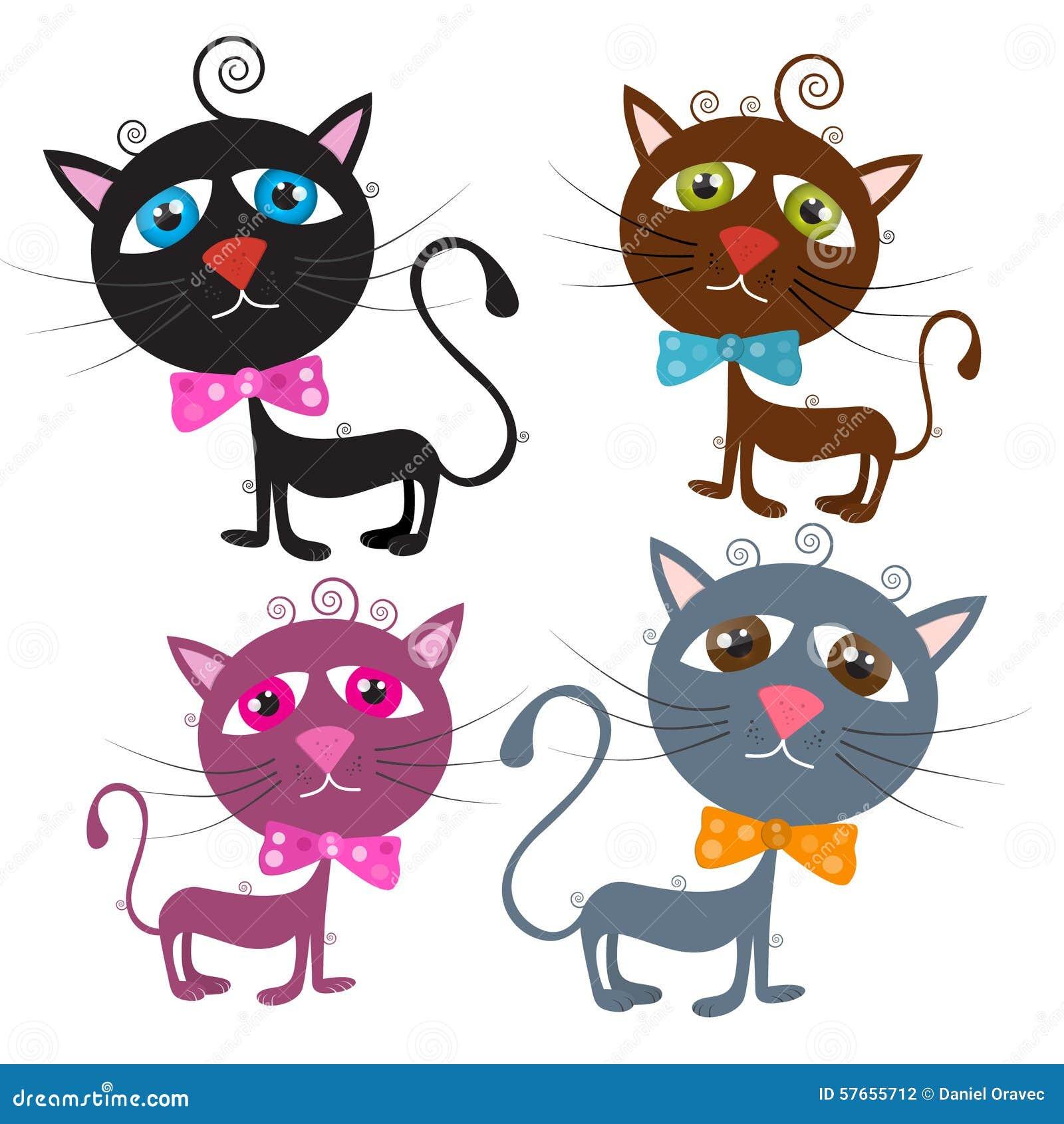 Wektorowi koty Ilustracyjni