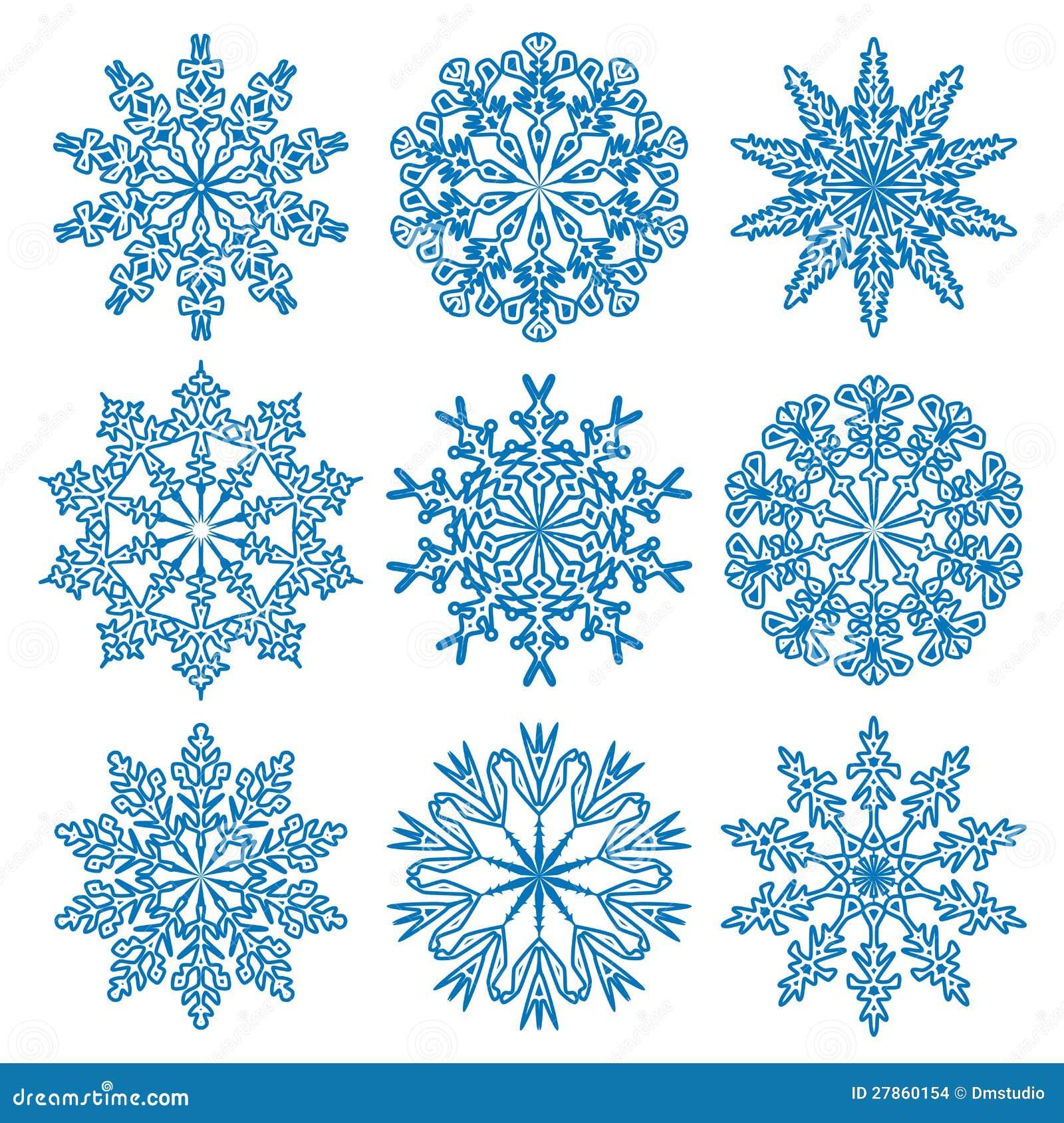 Wektorowi płatek śniegu