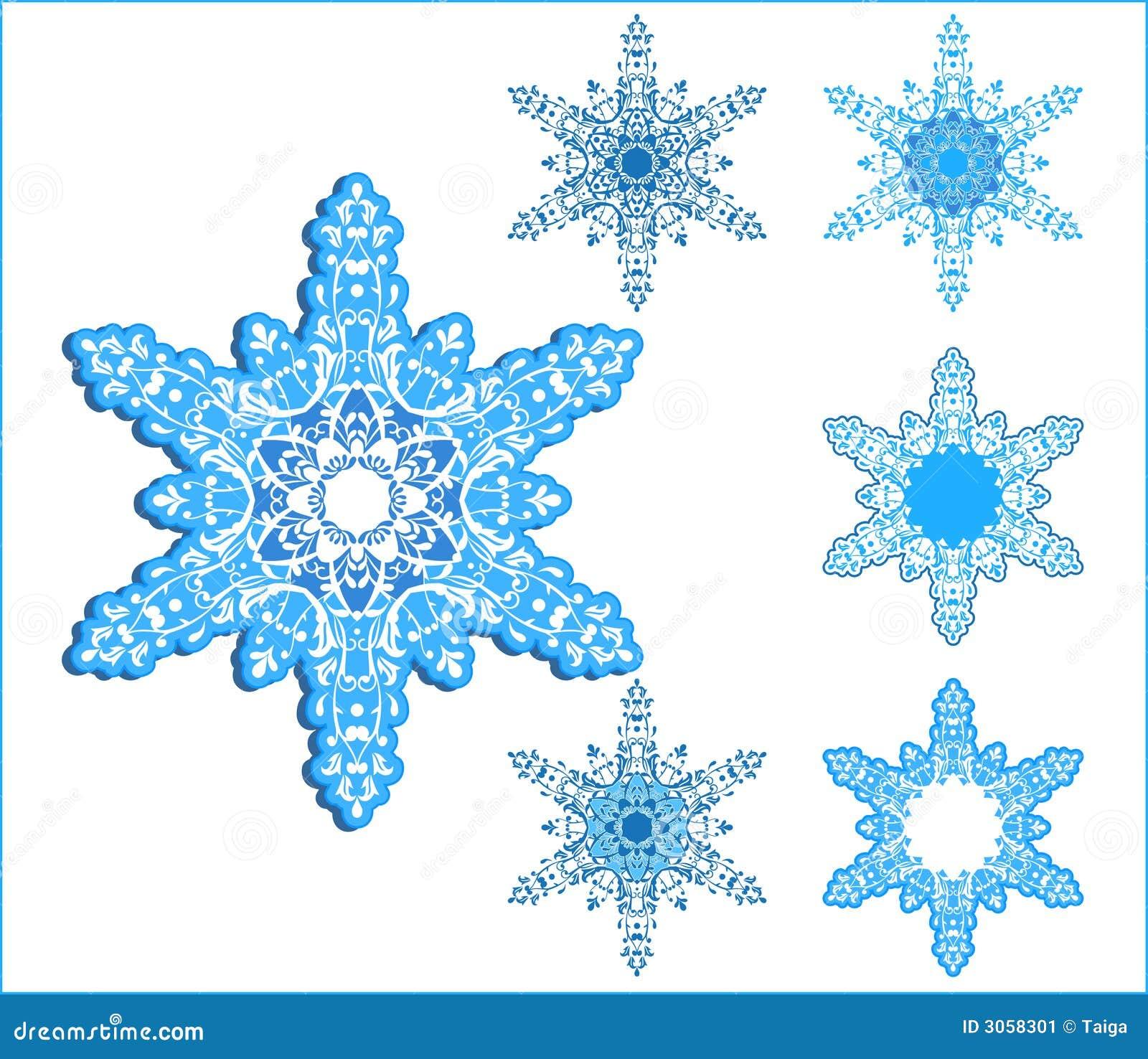 Wektorowi płatki śniegu