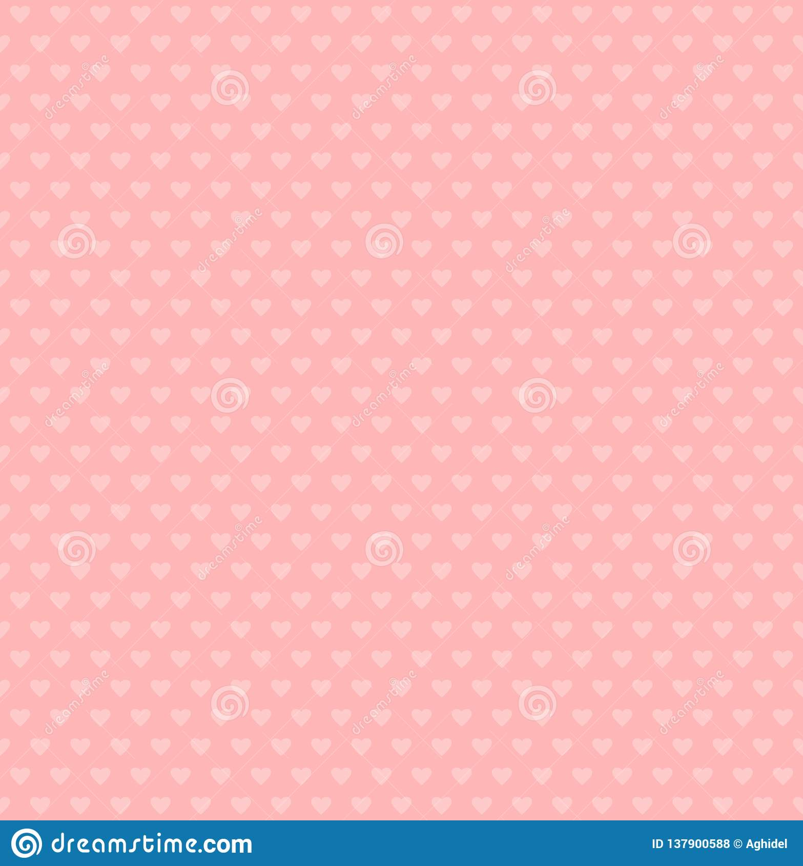 Wektorowi serce kształty prosty różowy tło deseniowi bezszwowi valentines Ślubna tekstura