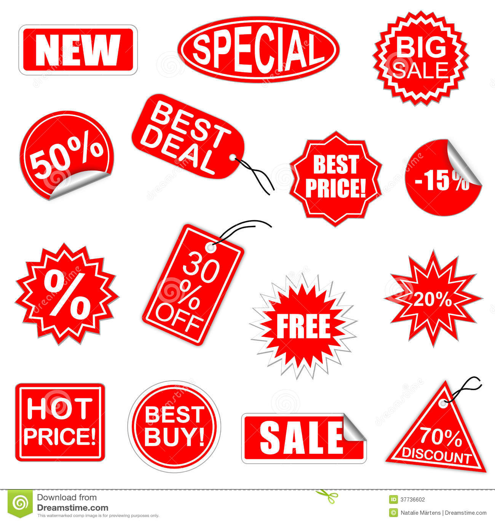 Wektorowi sprzedaż elementy Ustawiają 1