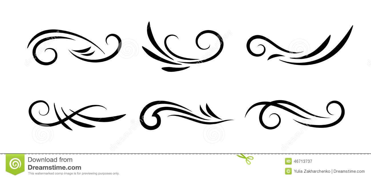 Curly Line Design For Cakes