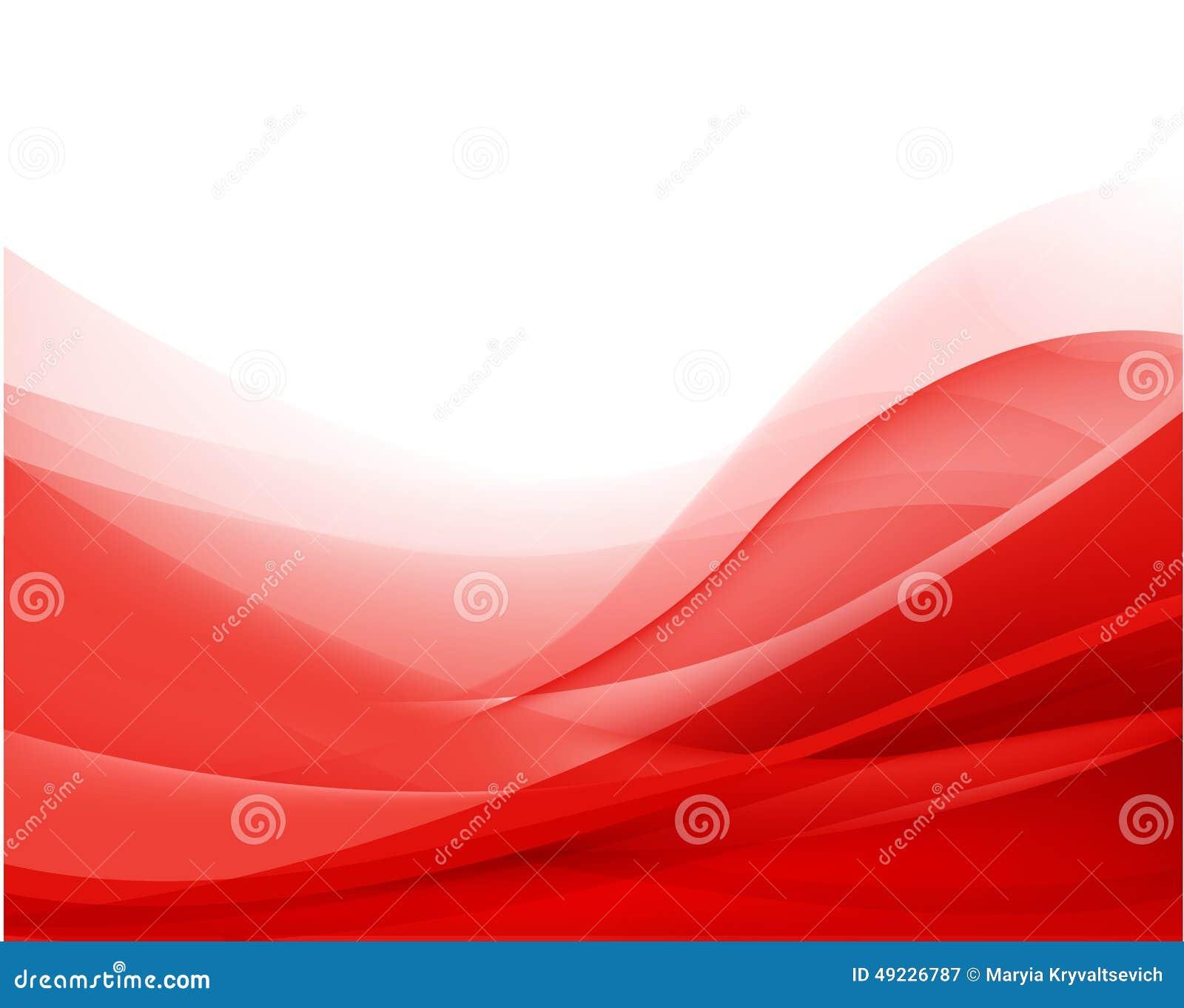 Wektorowy abstrakcjonistyczny czerwony falisty tło, tapeta