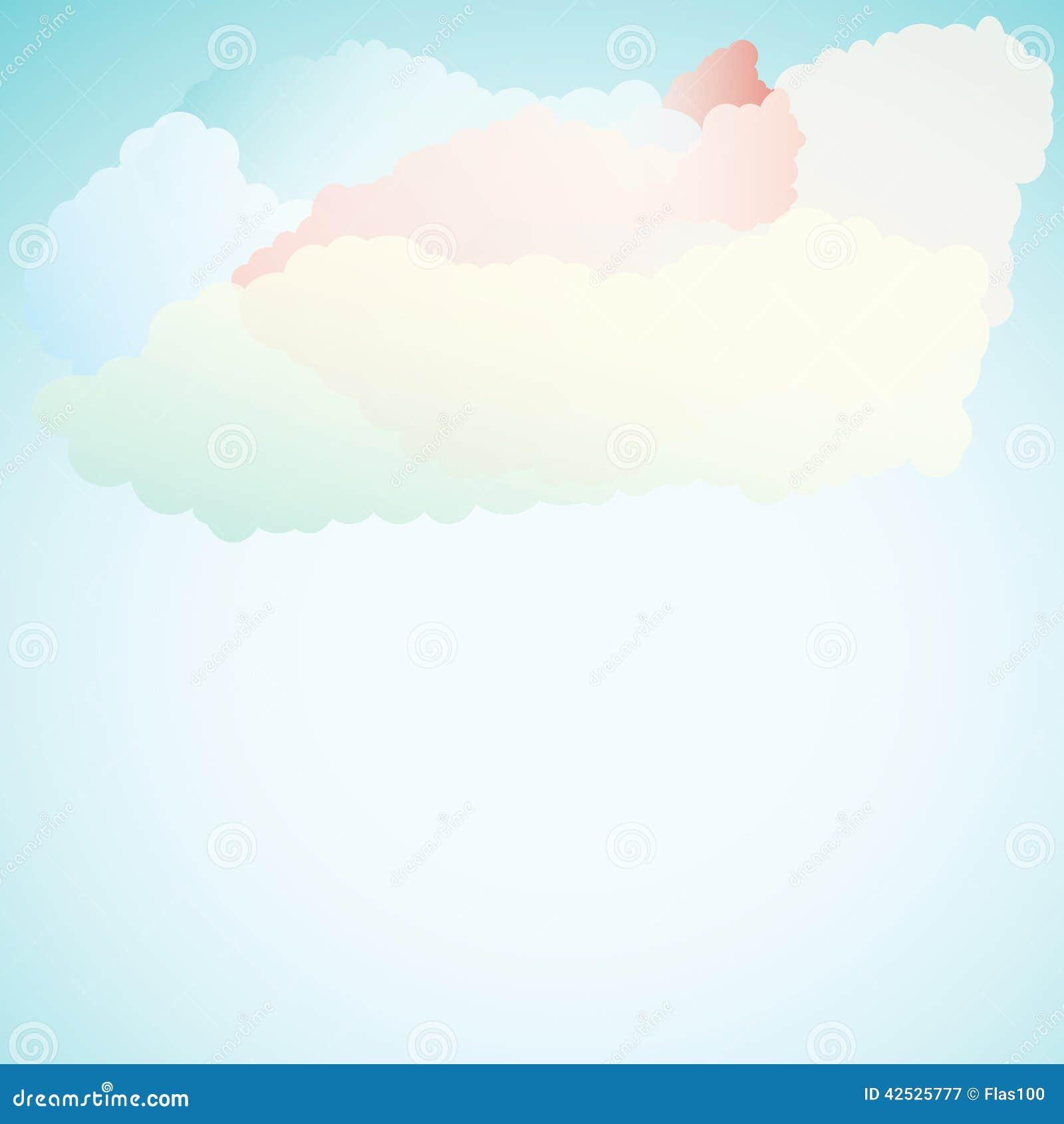 Wektorowy abstrakcjonistyczny tło komponujący chmury i