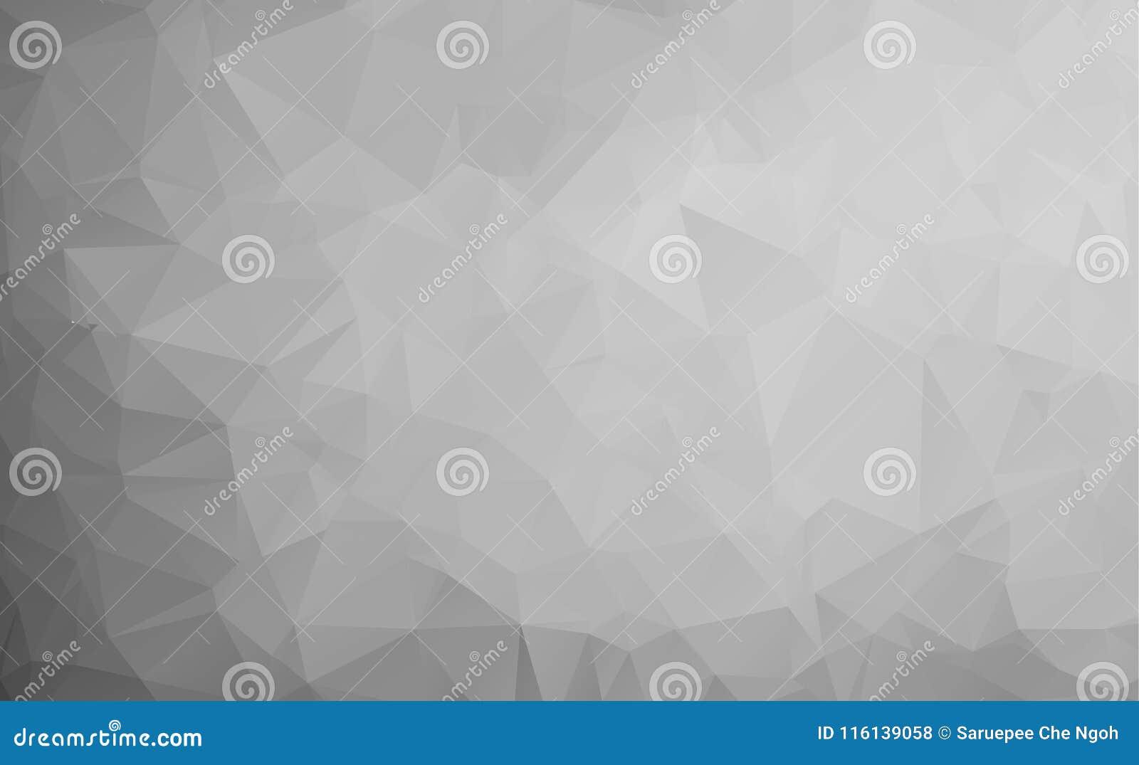 Wektorowy abstrakcjonistyczny triangulated blady bezbarwny tło Horyzontalny dynamiczny siwieje wzór geometryczna tekstura nowożyt