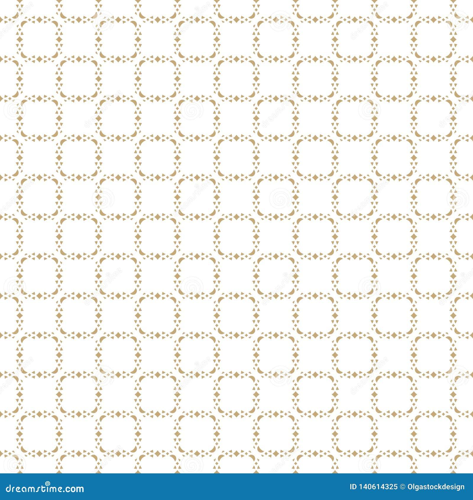 Wektorowy abstrakcjonistyczny złocisty geometryczny bezszwowy wzór Delikatny siatka ornament