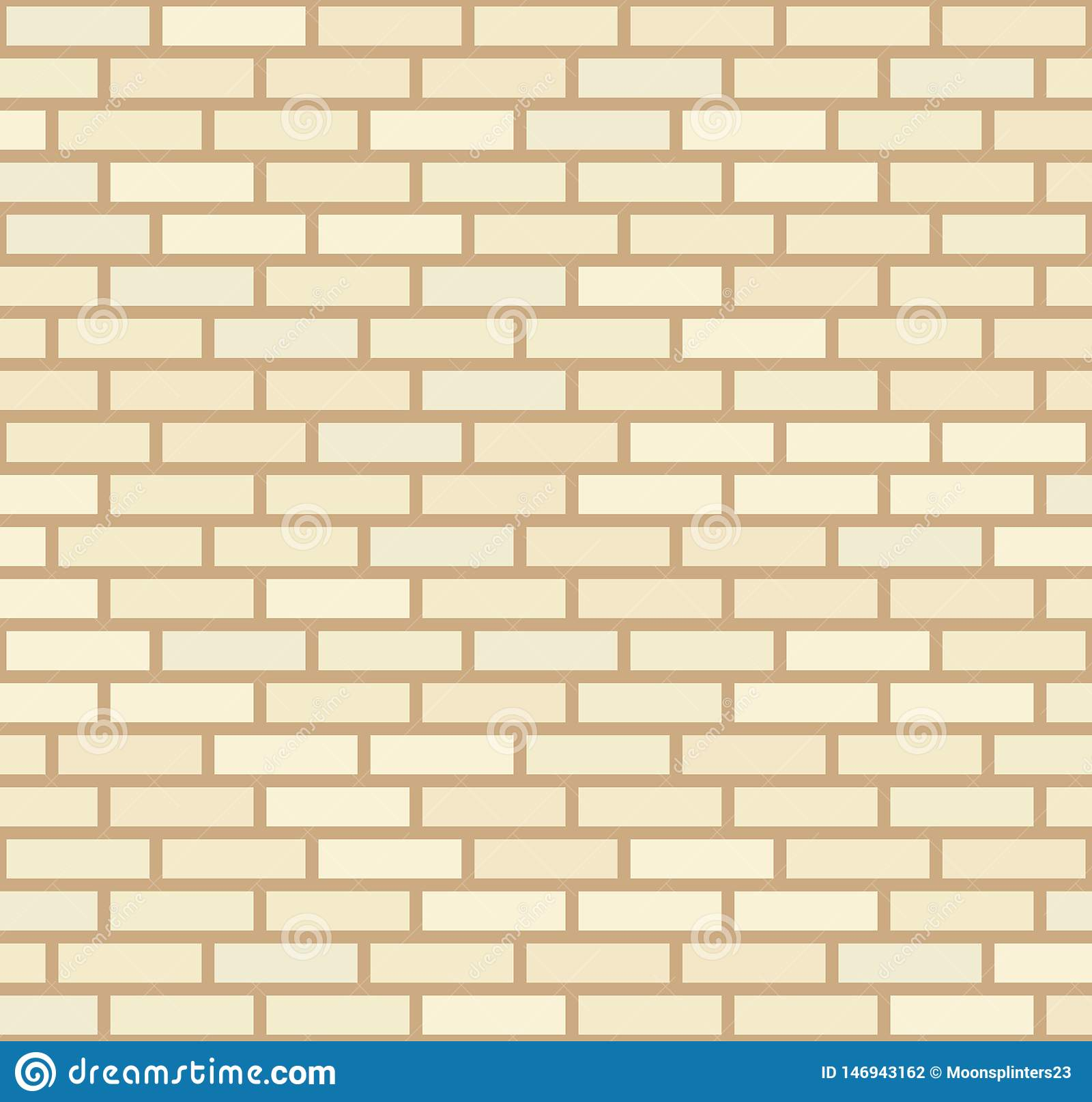 Wektorowy beż i jasnożółty ściany z cegieł tło Starej tekstury miastowy kamieniarstwo Rocznik architektury bloku tapeta fasada re