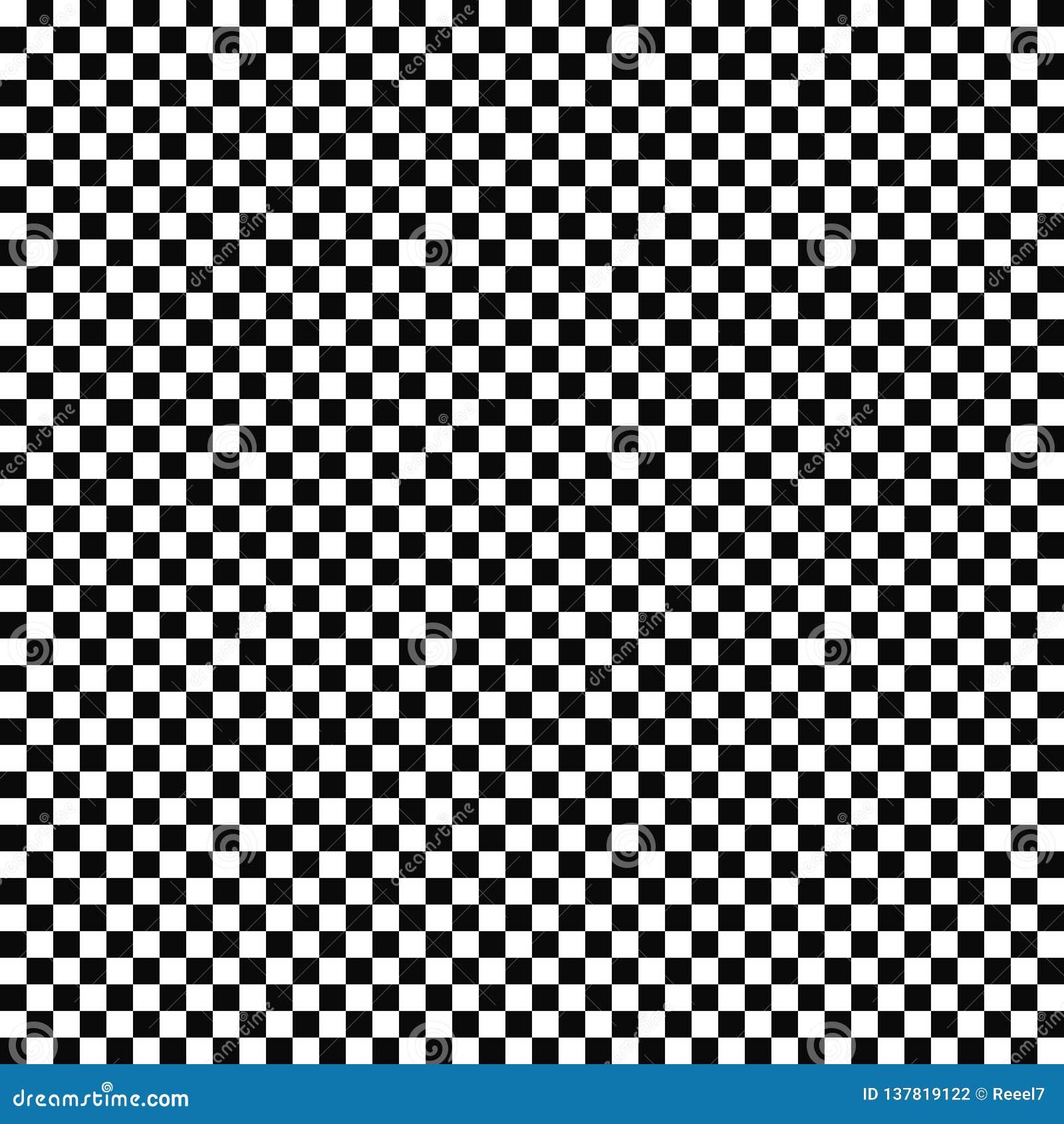 Wektorowy bezszwowy w kratkę flaga wzór geometryczna tekstura Czarno biały tło Monochromatyczny projekt
