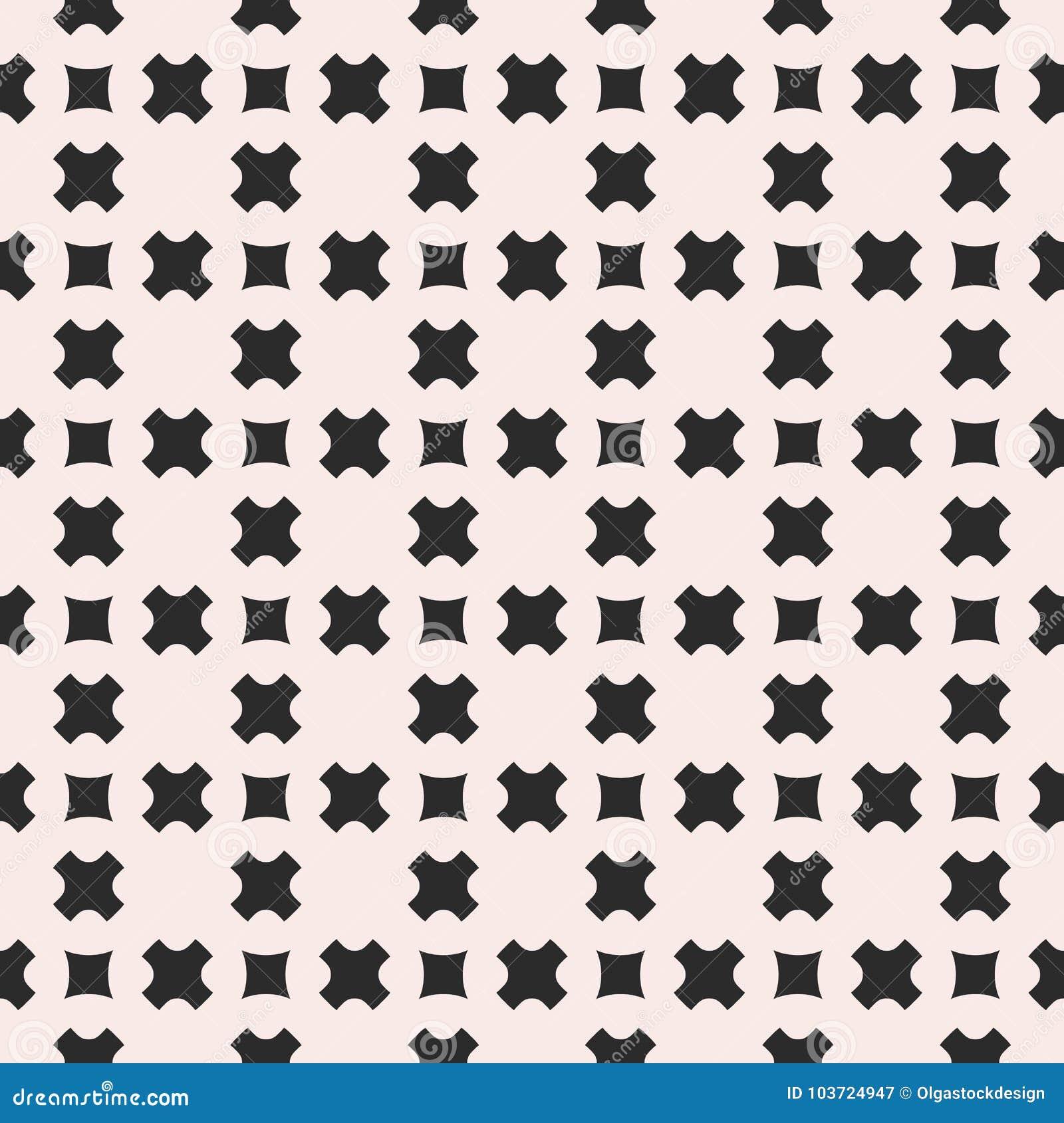 Wektorowy bezszwowy wzór, geometryczna tekstura z gładkimi krzyżami
