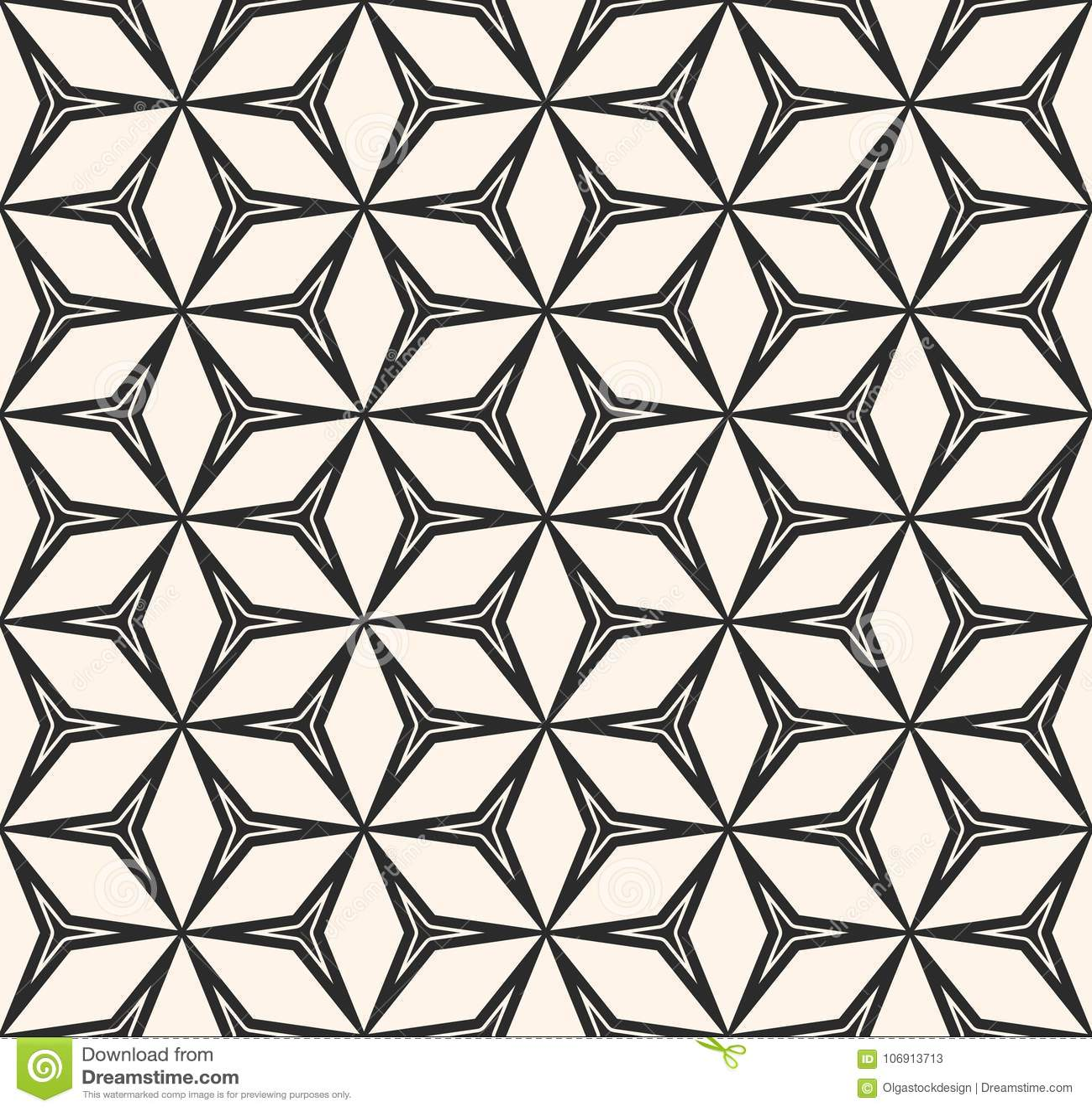 Wektorowy bezszwowy wzór, powtarza geometryczną teksturę, czarną