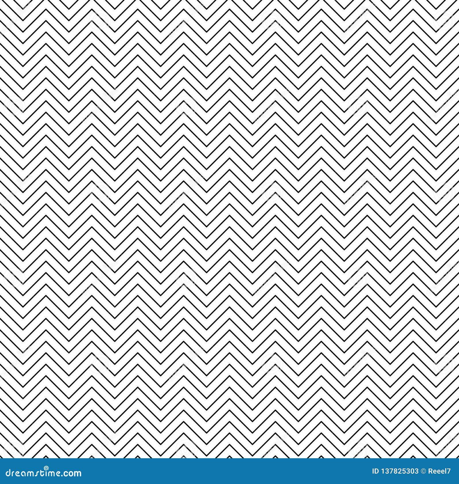 Wektorowy bezszwowy zygzakowaty wzór Szewron kreskowa tekstura Czarno biały tło Monochromatyczny Minimalny projekt