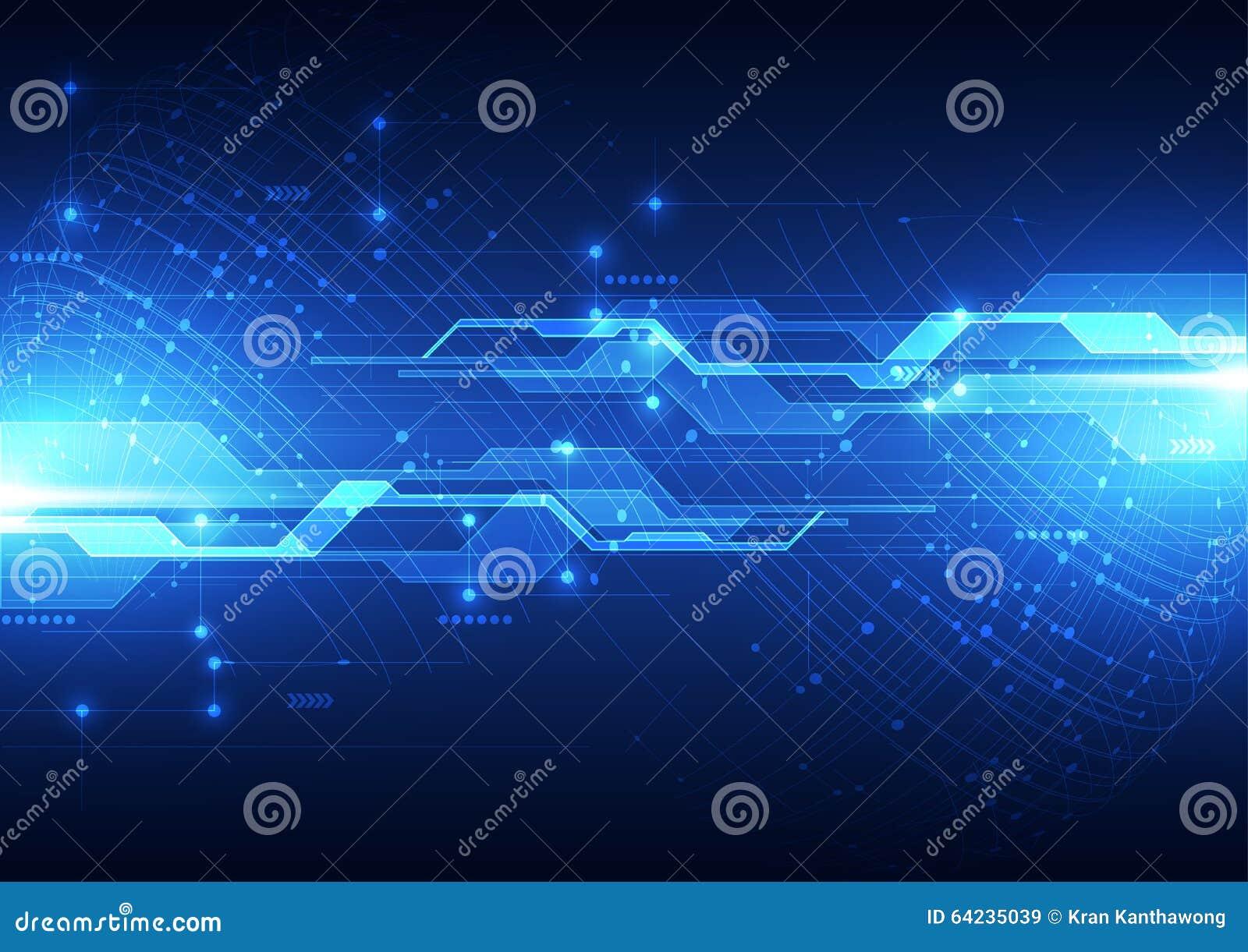 Wektorowy cyfrowy globalny technologii pojęcie, abstrakcjonistyczny tło