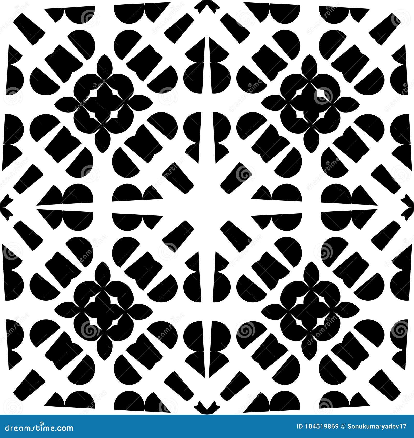 Wektorowy CZARNY bielu wzór