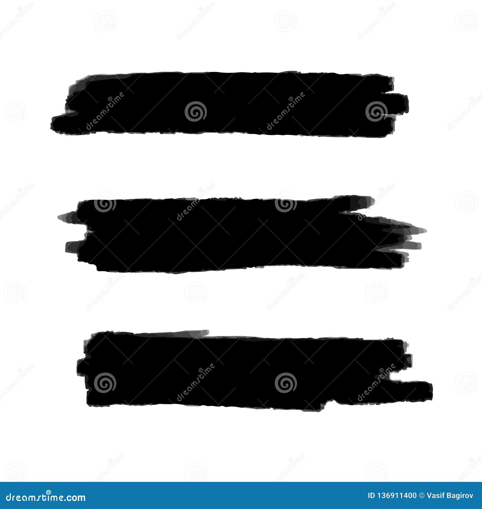 Wektorowy czarny tło dla tekst farby, atramentu muśnięcia uderzenia, muśnięcia, linii lub tekstury, Brudzi artystycznego projekta