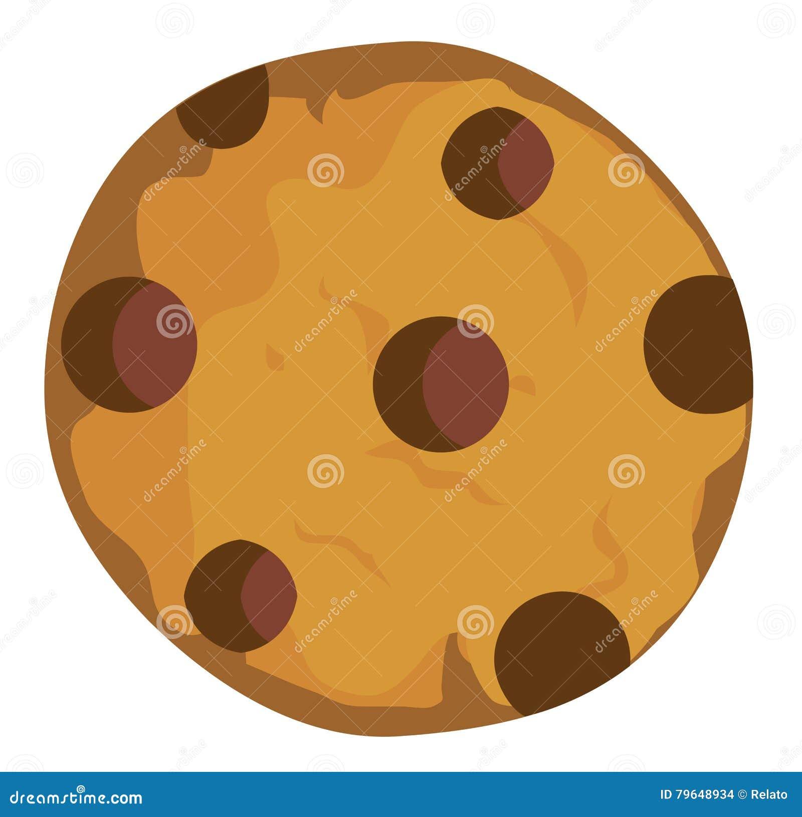 Wektorowy Czekoladowego układu scalonego ciastko