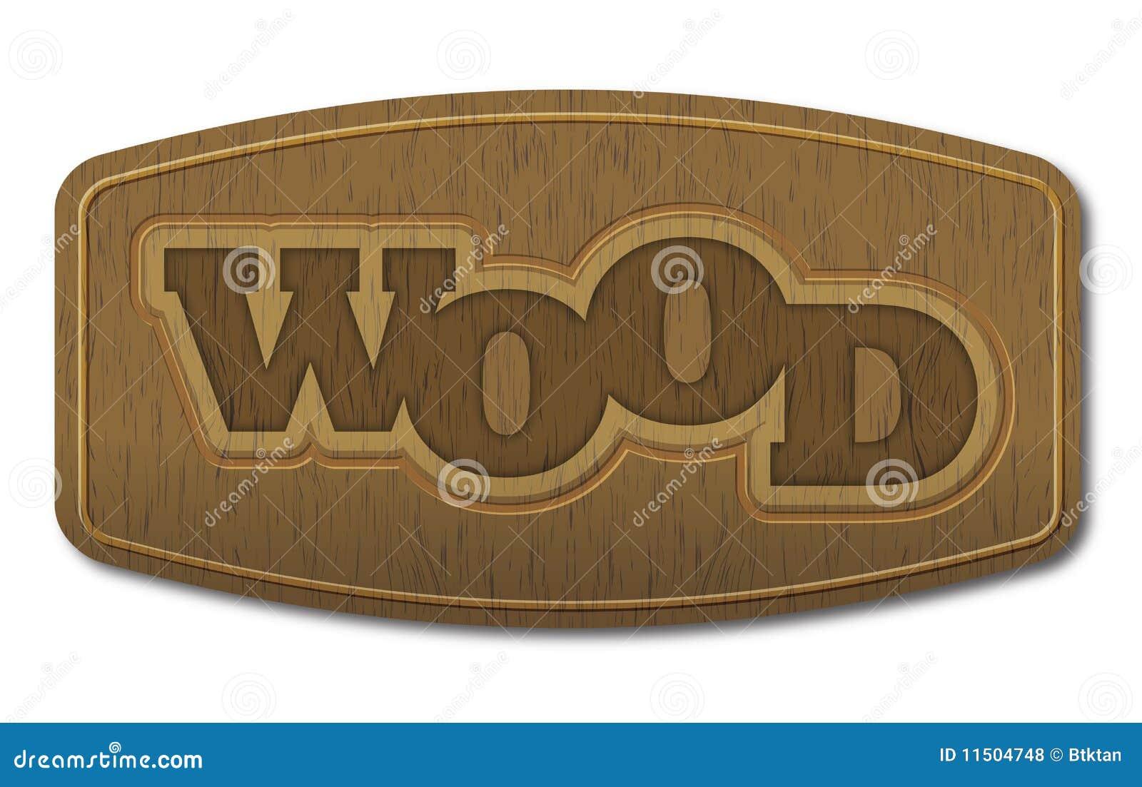 Wektorowy drewno