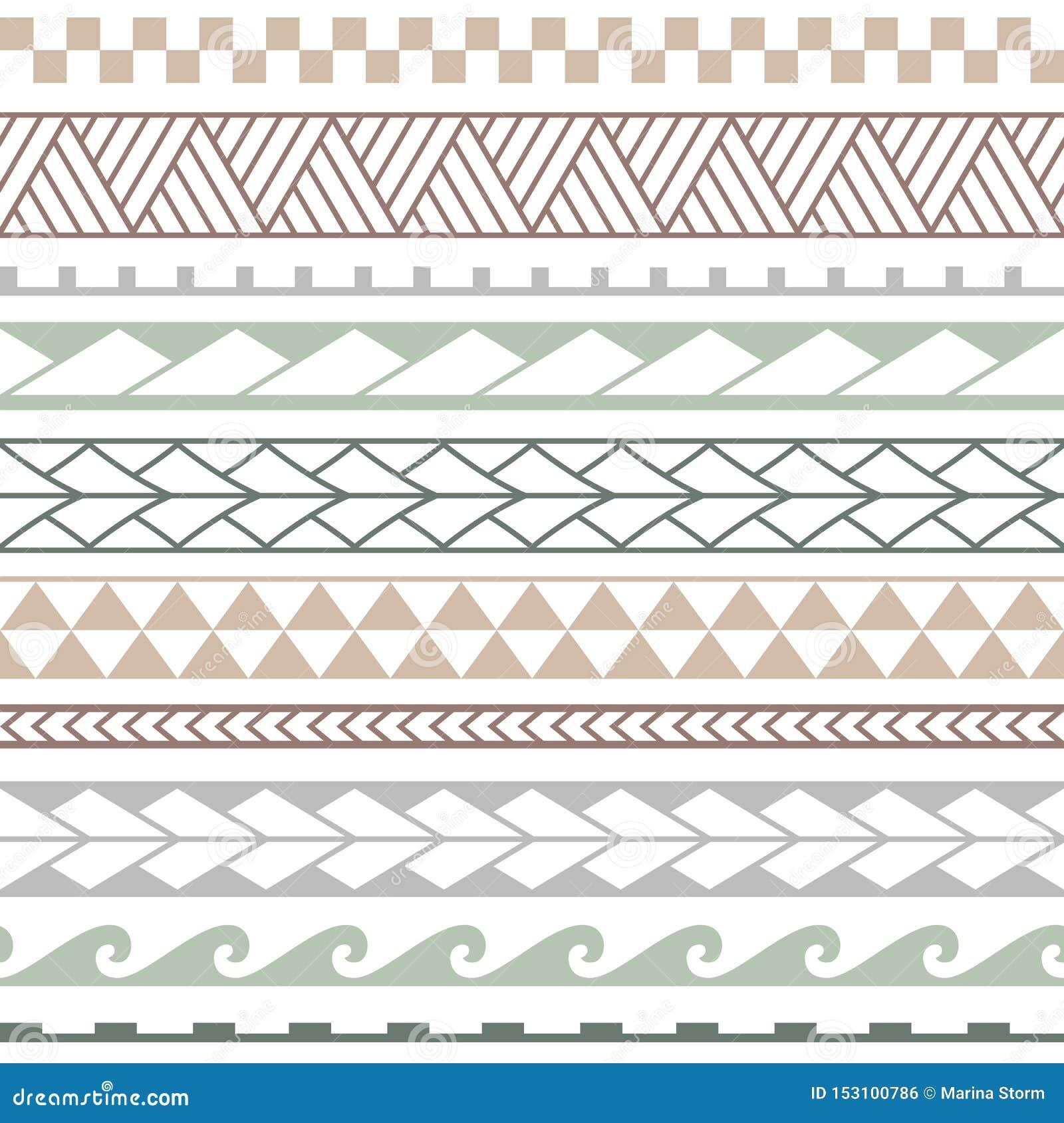 Wektorowy etniczny bezszwowy wzór w maoryjskim stylu
