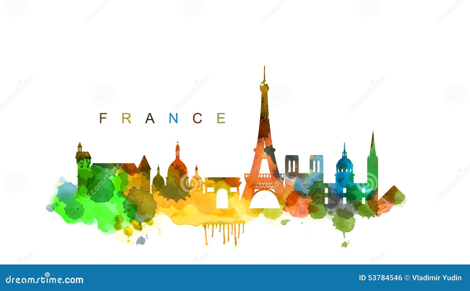 Download Wektorowy France ilustracja wektor. Ilustracja złożonej z wyznaczający - 53784546