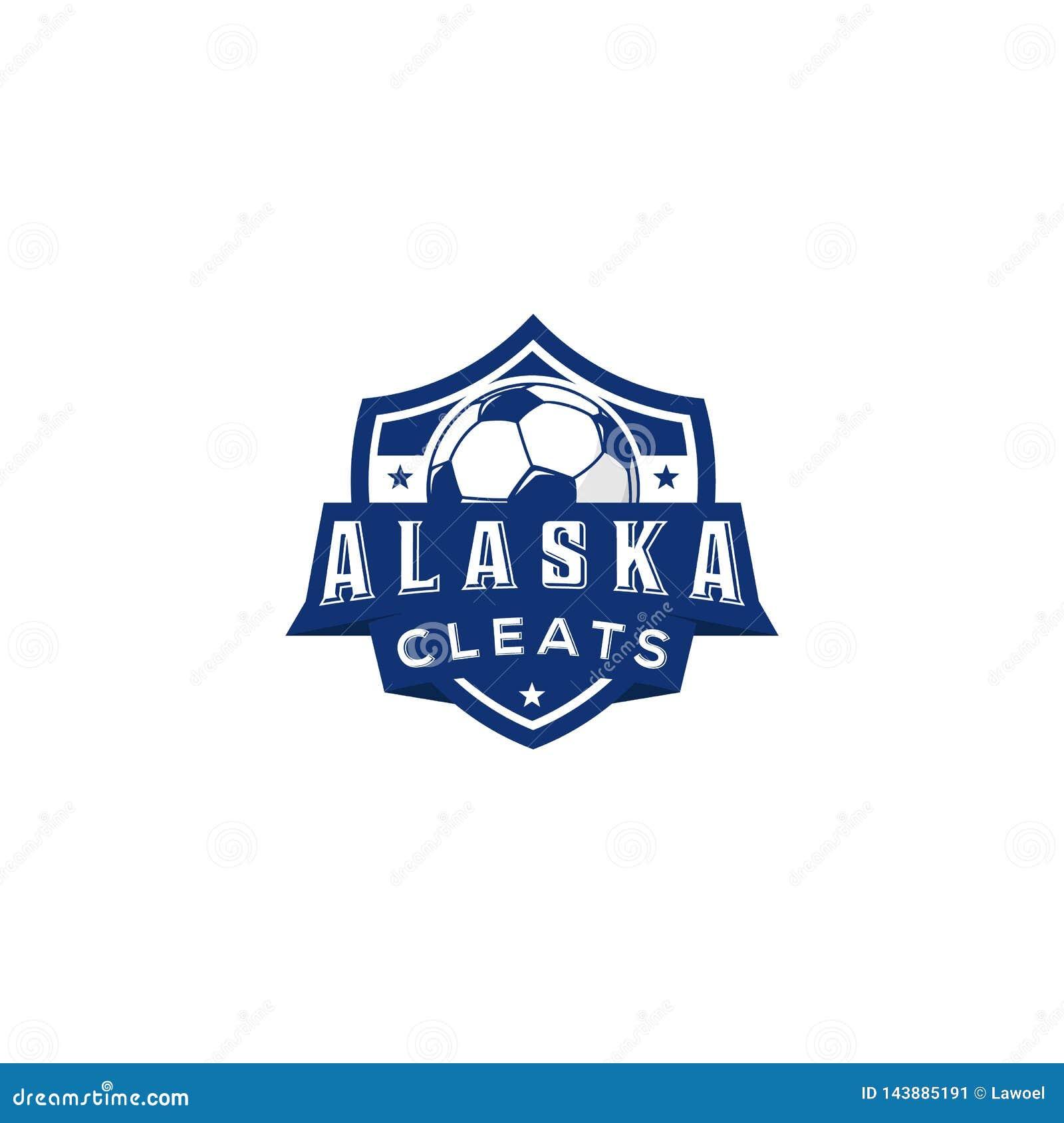 Wektorowy futbolu klubu emblemat Meczu futbolowego mistrzostwa balowa ikona, sztandary dla lub