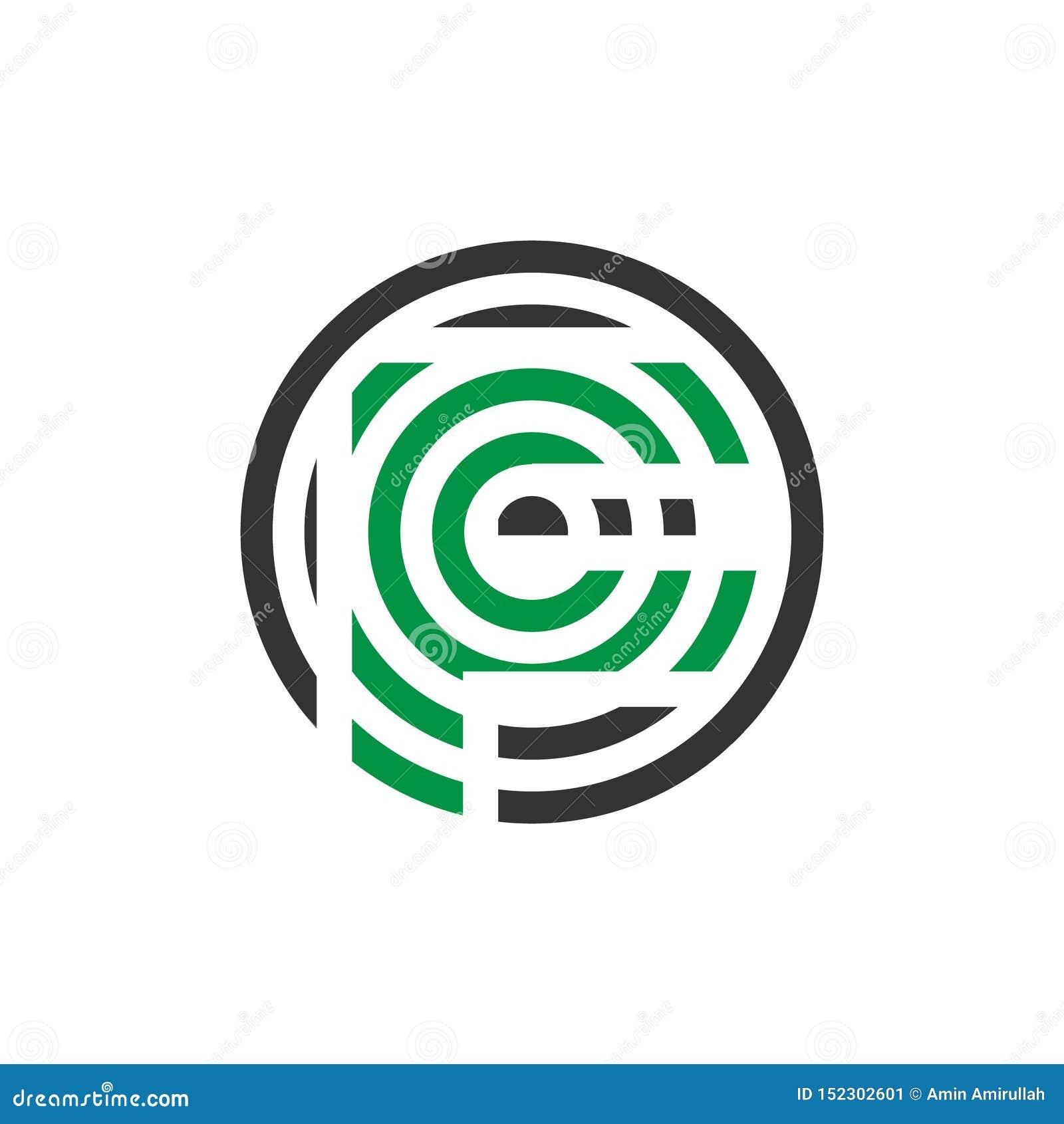 Wektorowy ilustracyjny abstrakcjonistyczny komara listu f ikony logo projekt