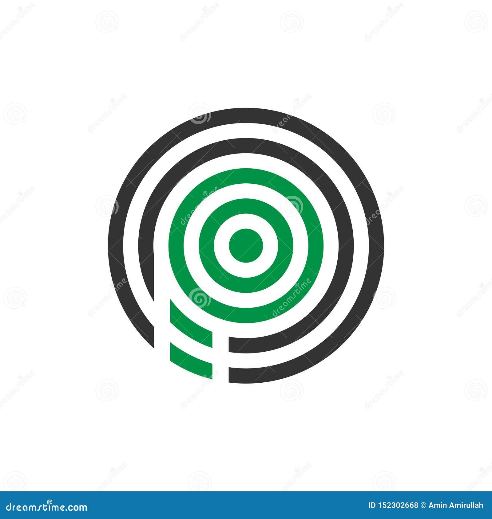Wektorowy ilustracyjny abstrakcjonistyczny komara listu p ikony logo projekt