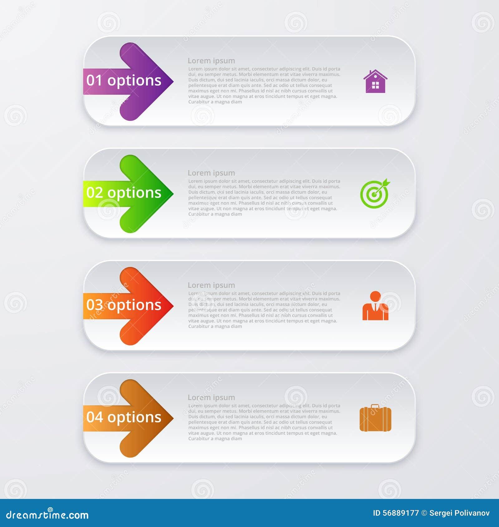Wektorowy ilustracyjny infographics cztery opci