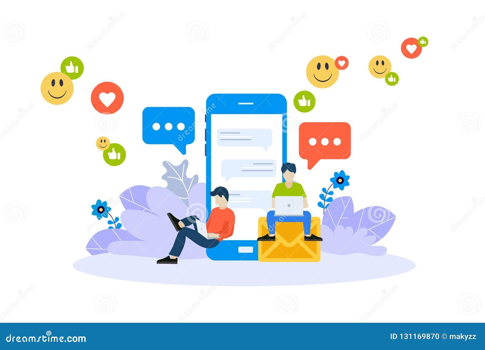 Wektorowy ilustracyjny pojęcie mobilni apps i usługa Kreatywnie płaski projekt dla sieć sztandaru, marketingowy materiał