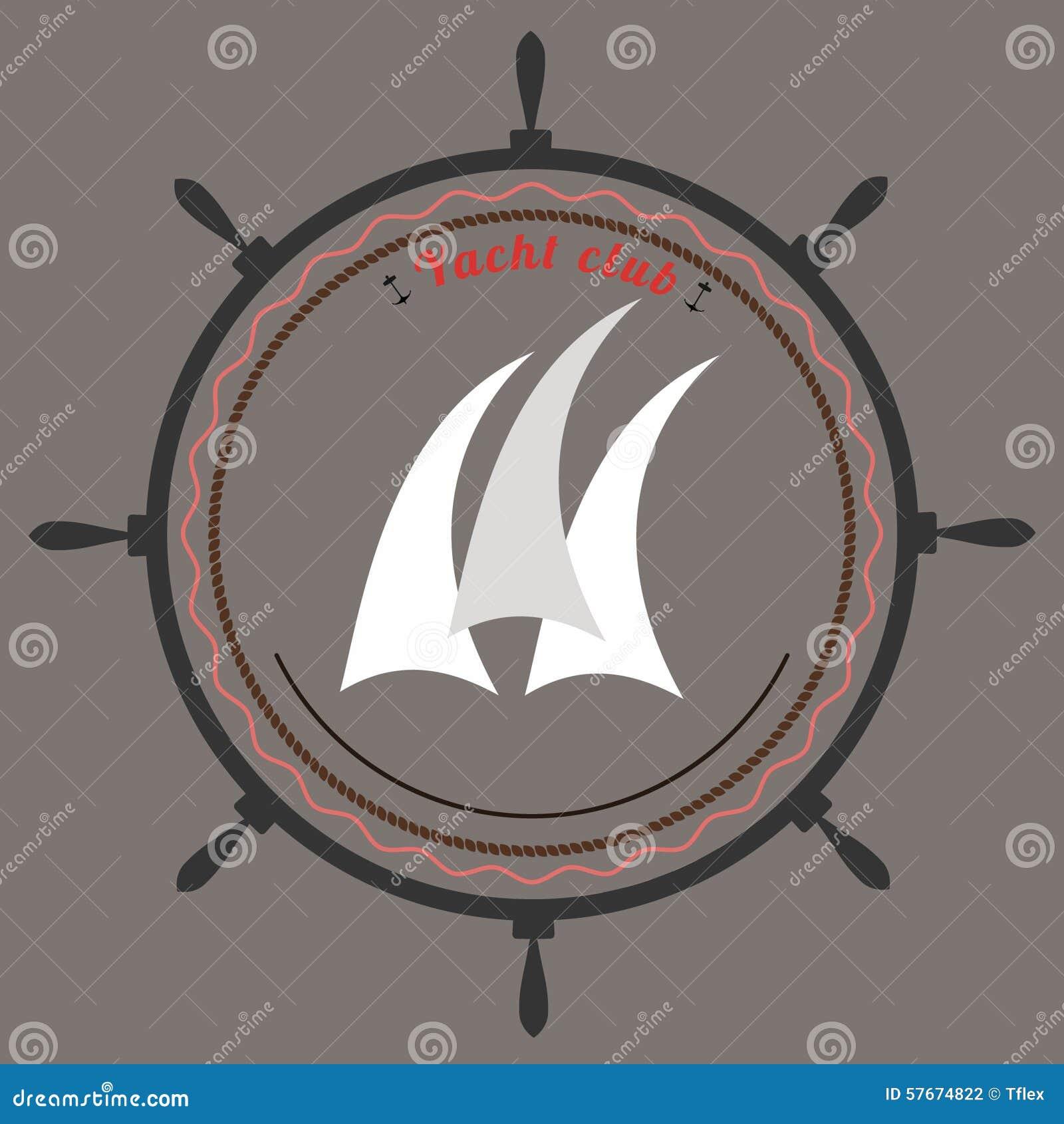Wektorowy jachtu klubu logo