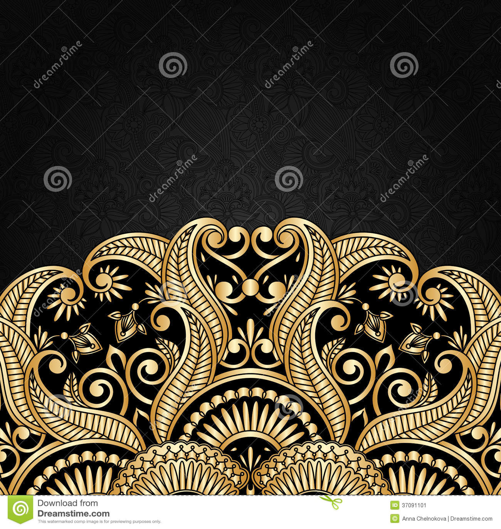 Download Wektorowy Kartka Z Pozdrowieniami. Ilustracja Wektor - Ilustracja złożonej z arabesk, ornamental: 37091101