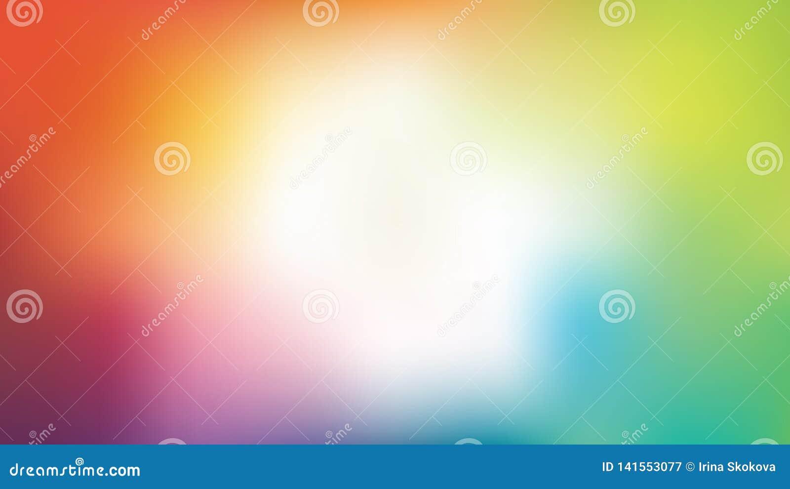 Wektorowy kolorowy plamy tło z białym centre