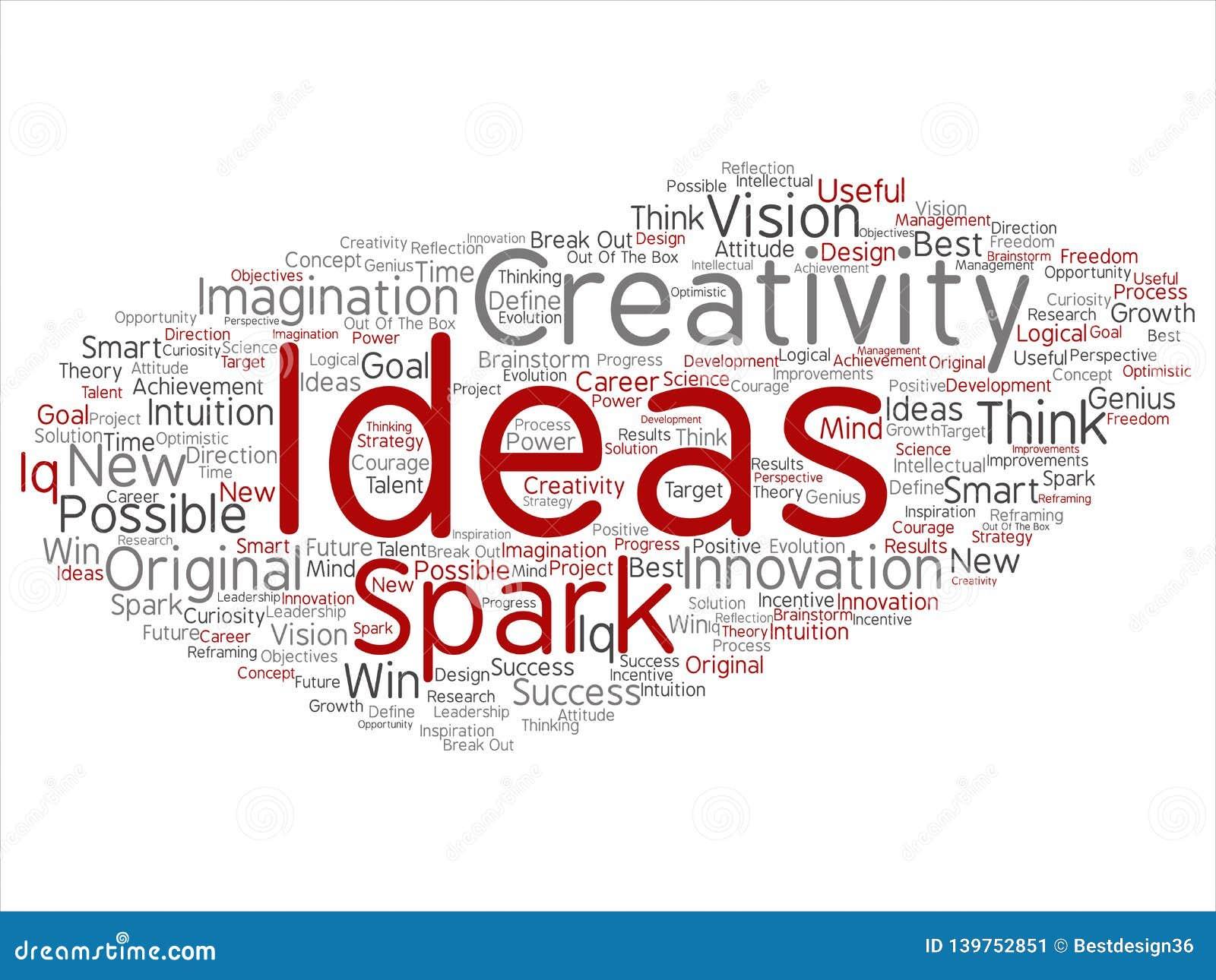 Wektorowy kreatywnie nowy pomysł brainstorming abstrakt