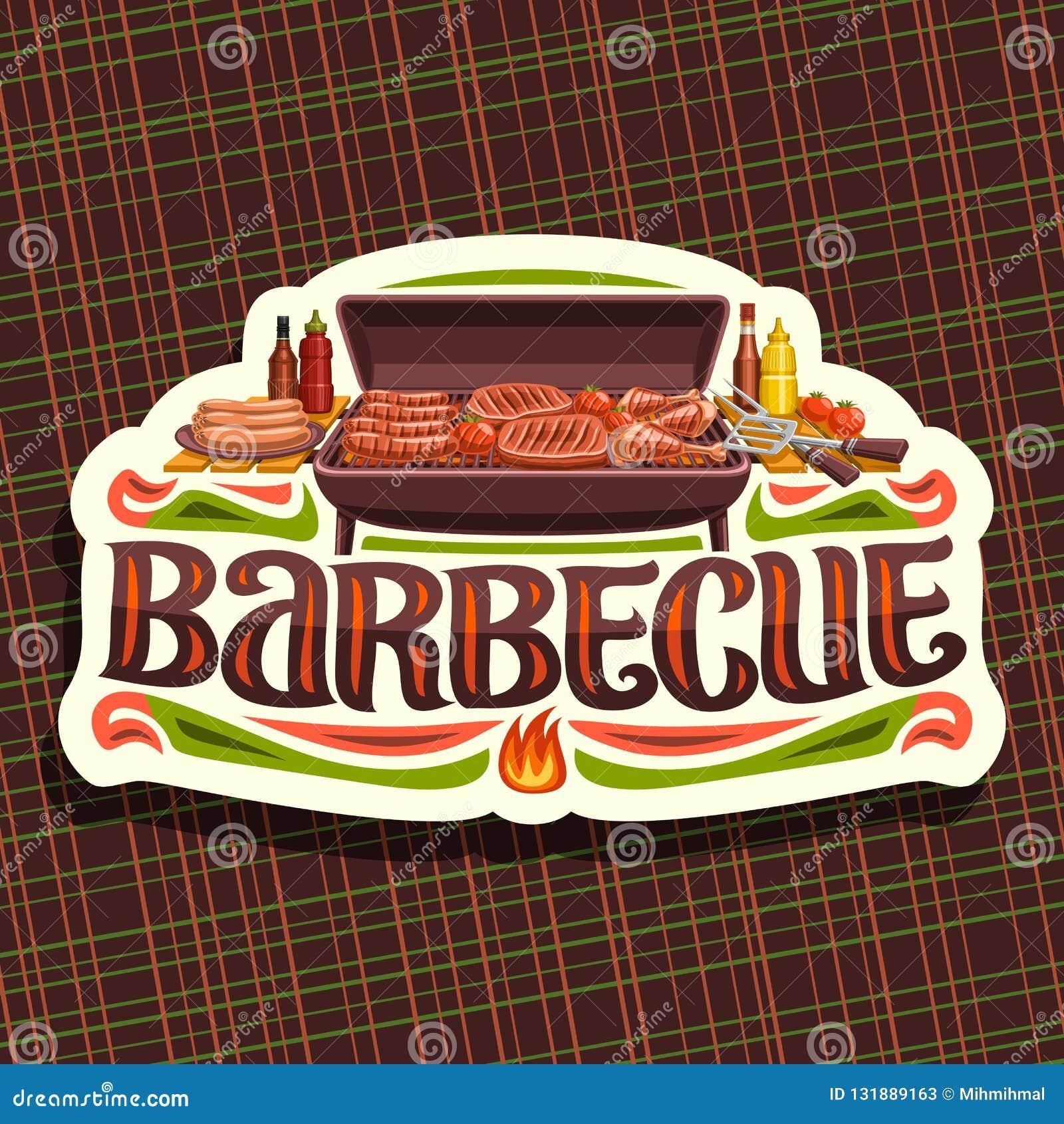 Wektorowy logo dla grilla