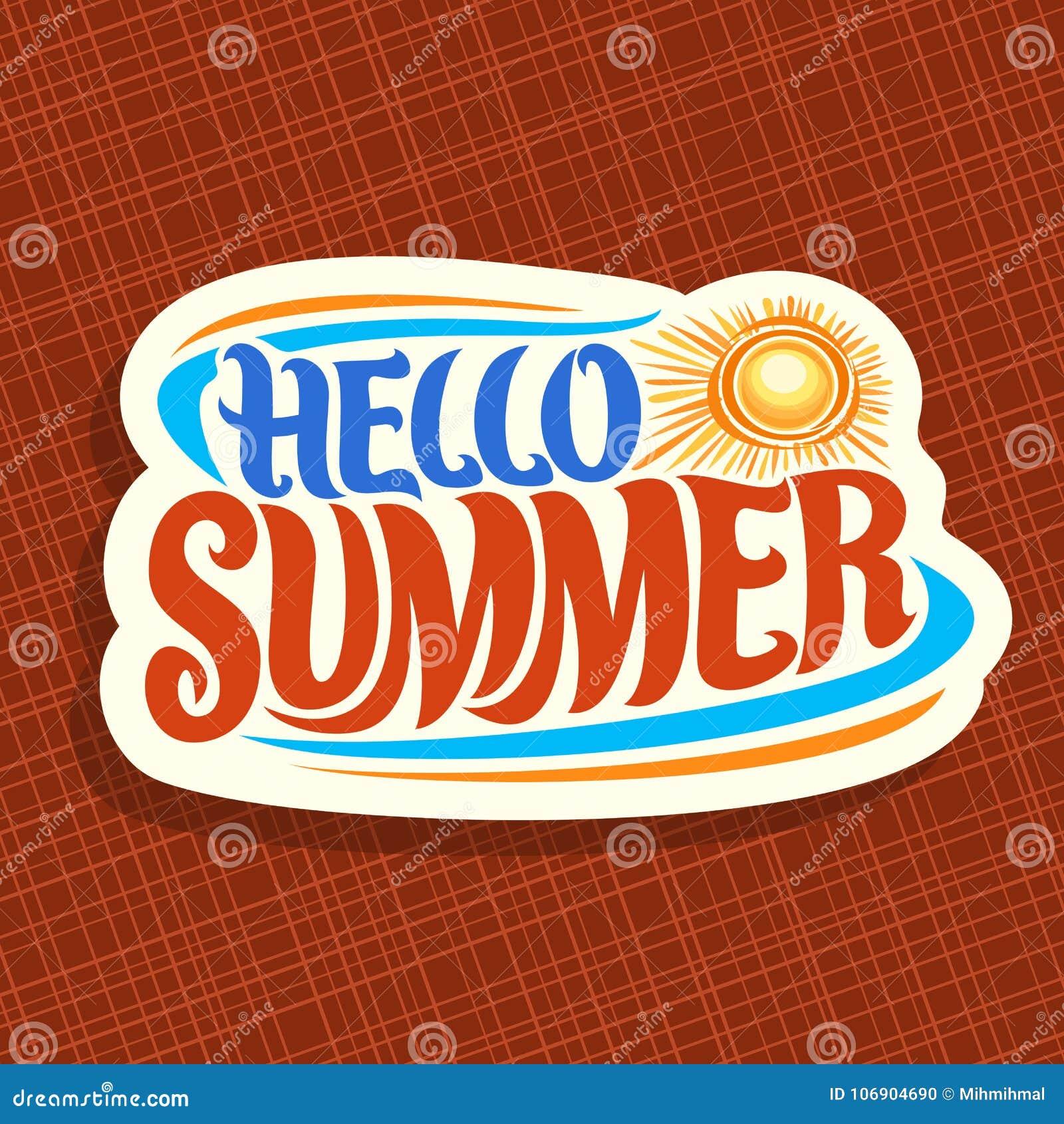Wektorowy logo dla lato sezonu