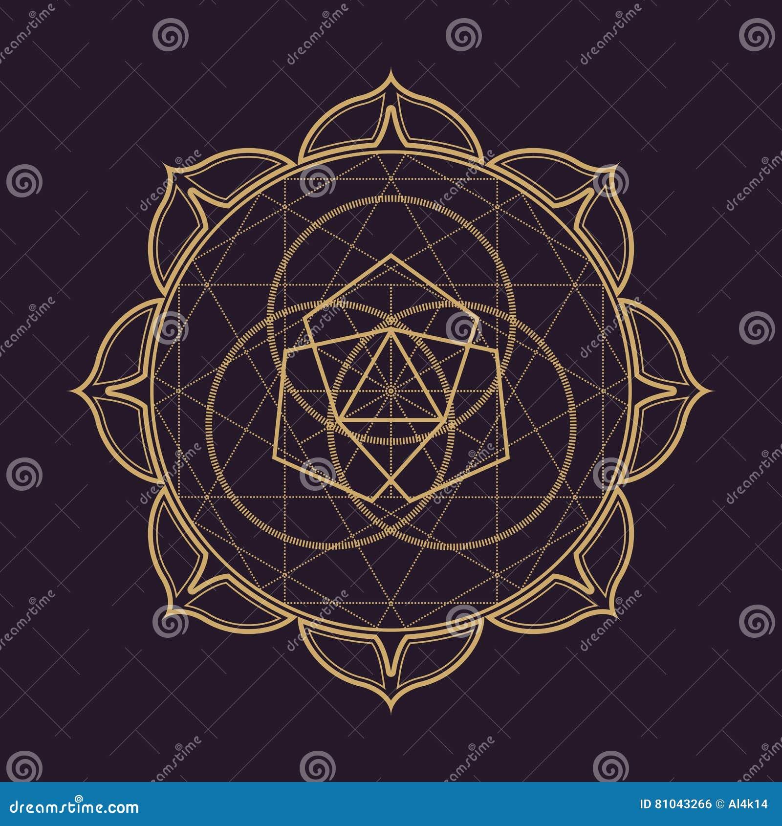 Wektorowy mandala geometrii święta ilustracja