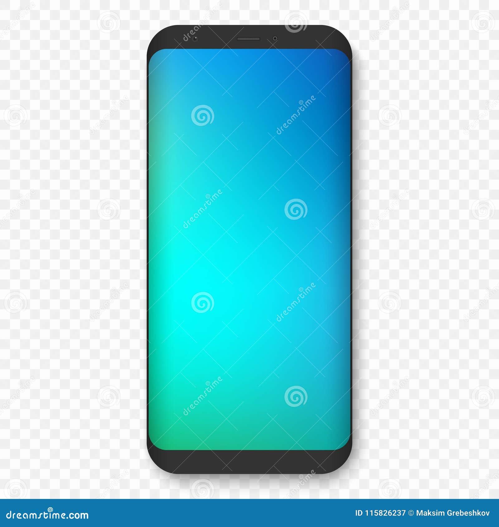 Wektorowy mobilny szablon