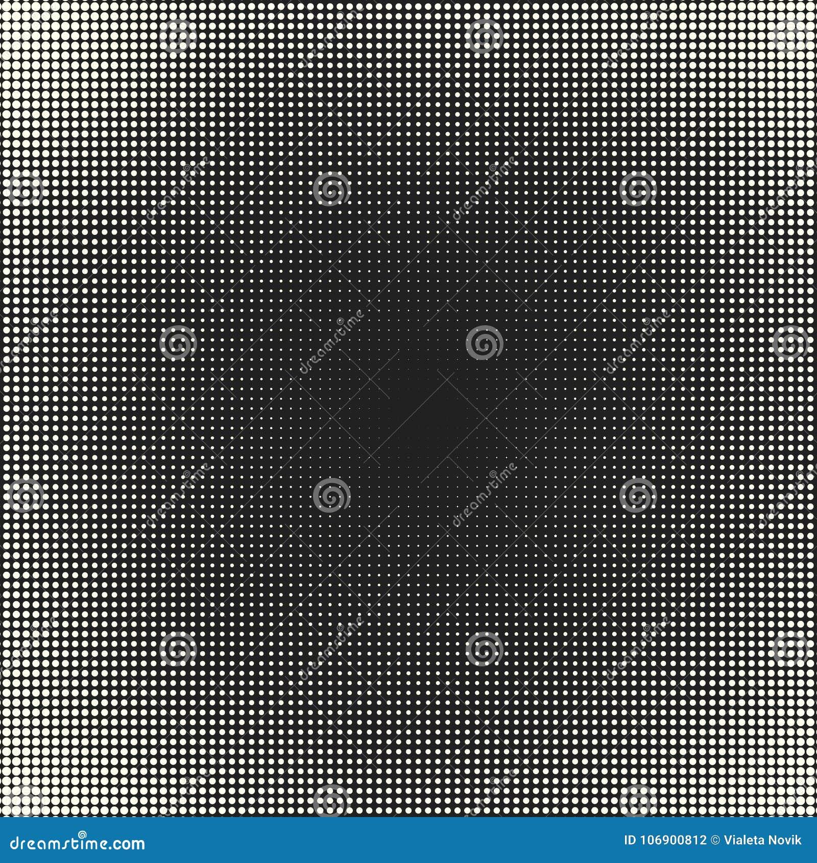 Wektorowy monochrom okrąża halftone tło