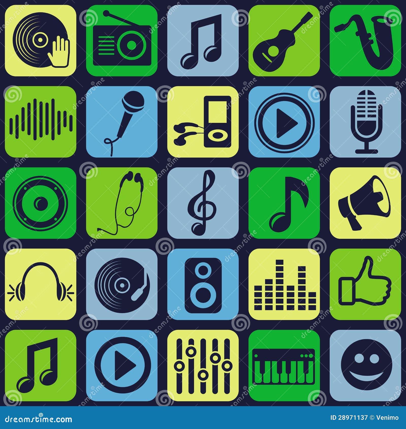 Wektorowy muzyczny bezszwowy wzór