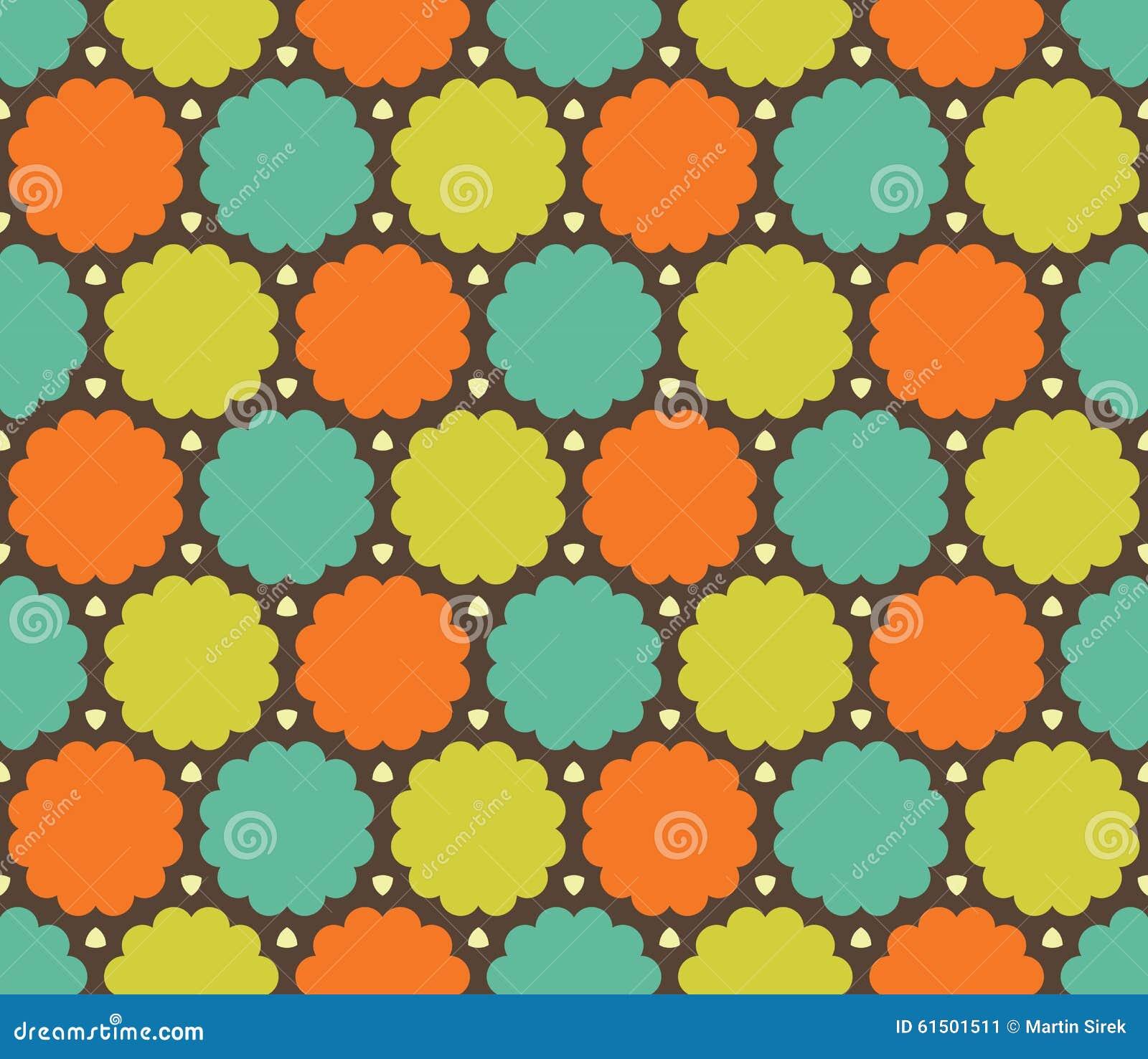 Wektorowy nowożytny bezszwowy kolorowy geometrii chmury wzór, koloru abstrakt