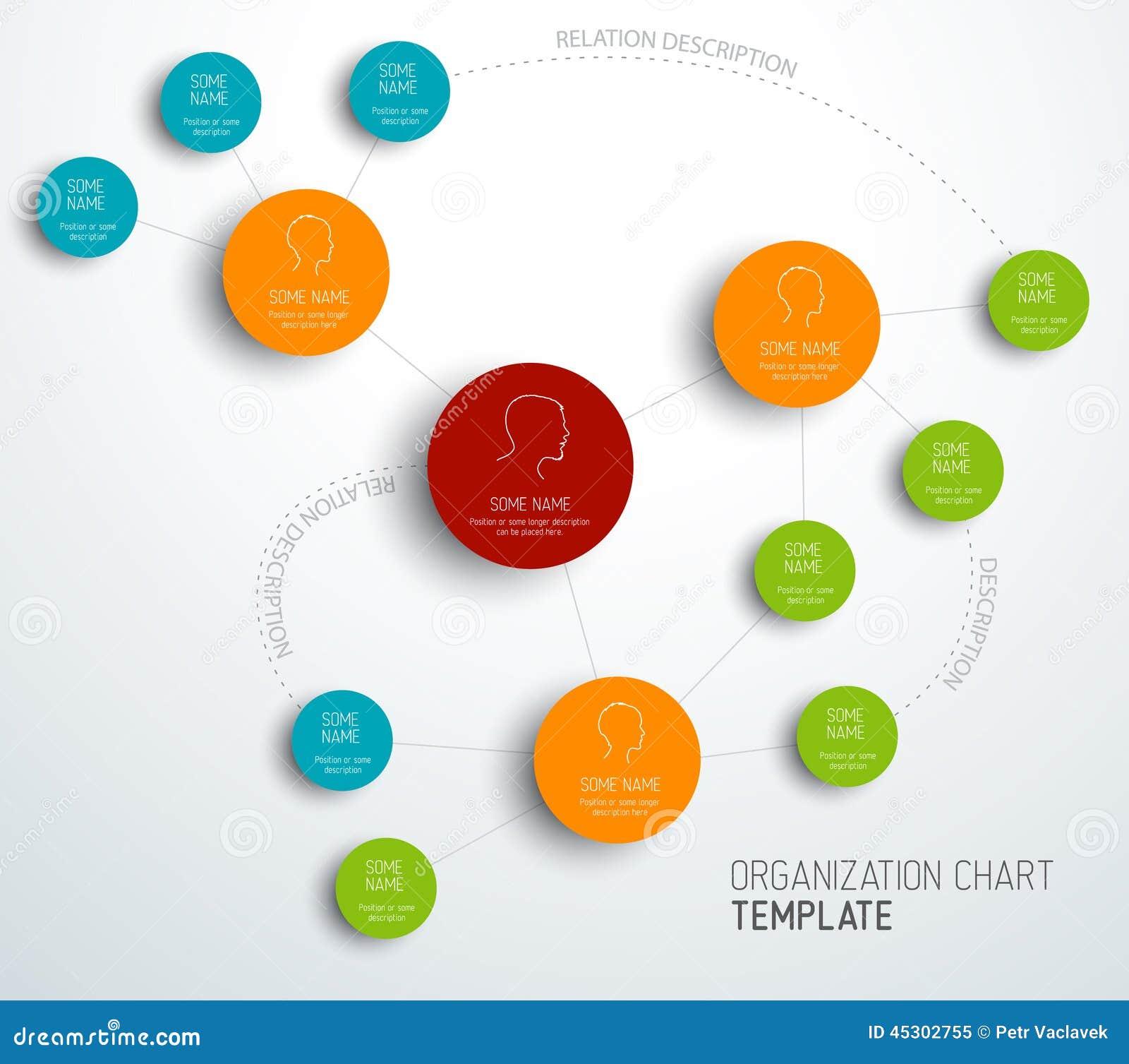 Wektorowy nowożytny i prosty organizaci mapy szablon