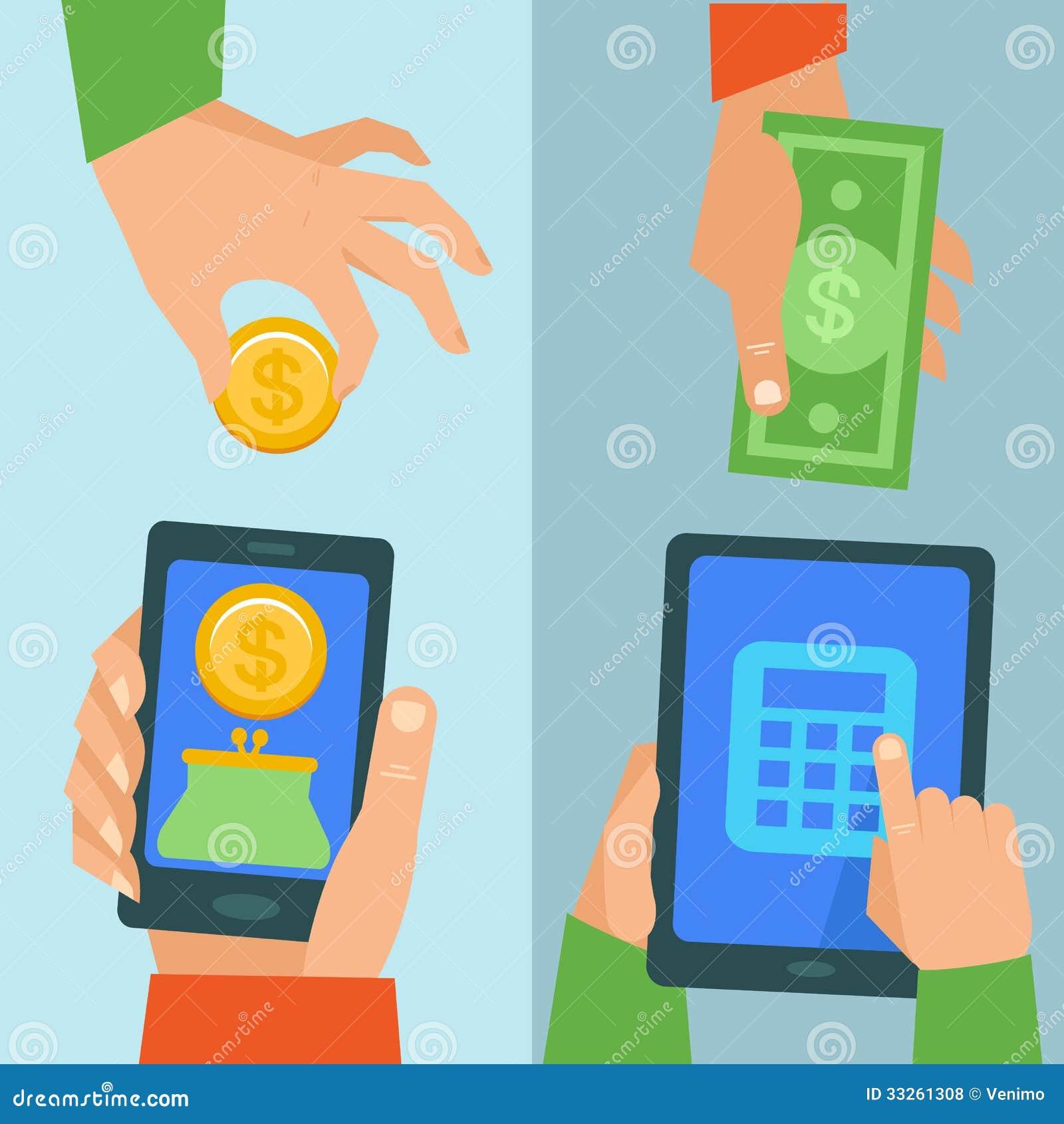Wektorowy online bankowości pojęcie