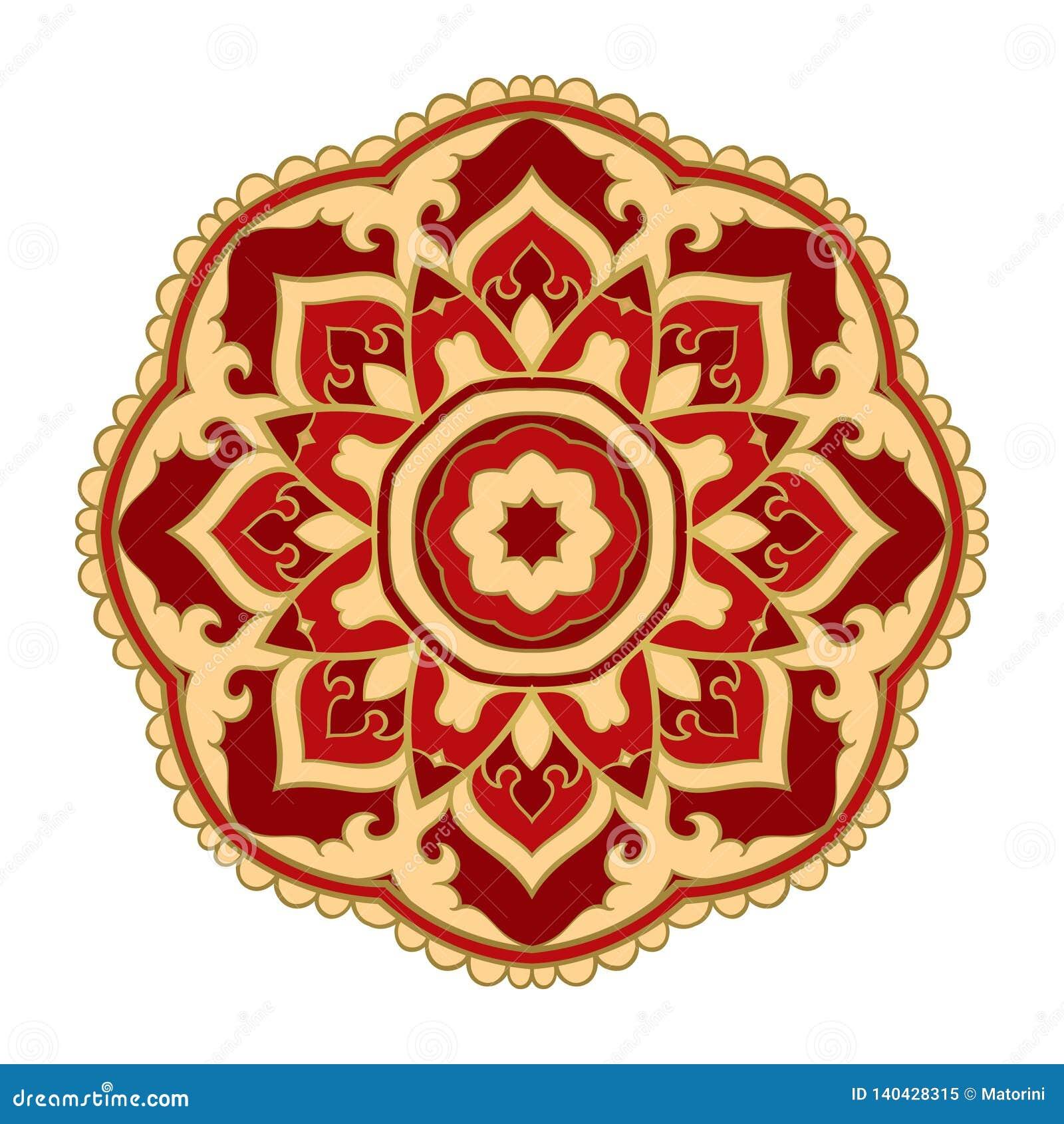 Wektorowy orientalny mandala