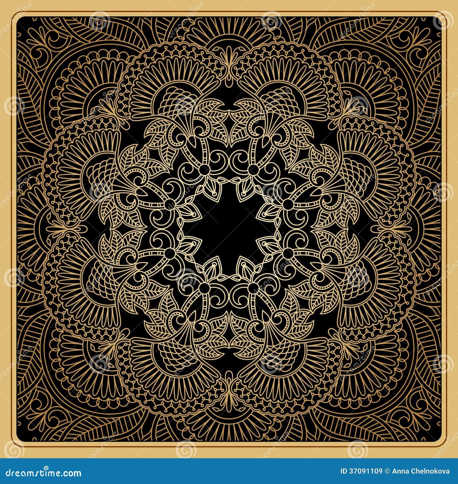 Download Wektorowy Ornamentacyjny Tło. Ilustracja Wektor - Ilustracja złożonej z złoto, arabesk: 37091109