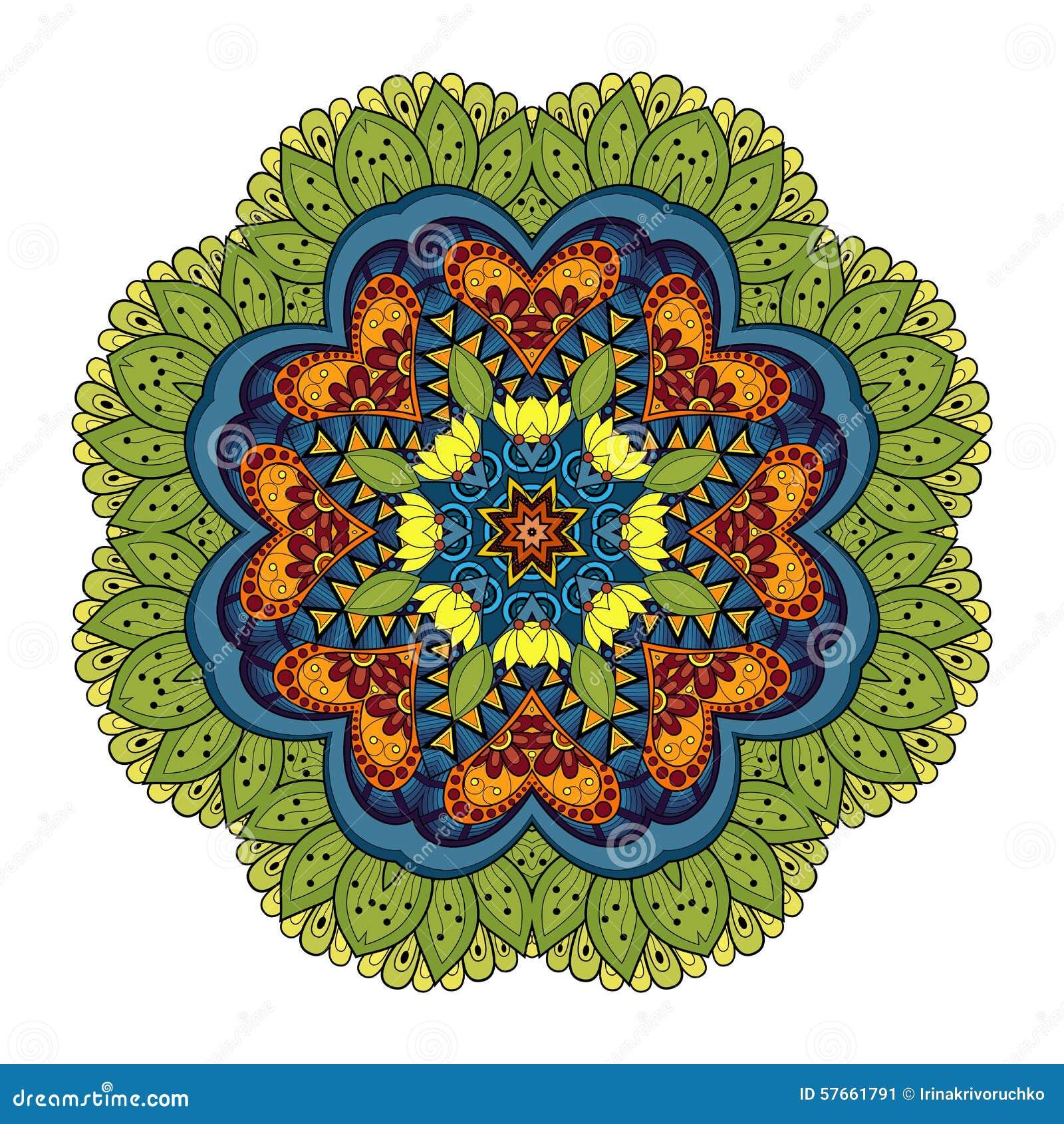 Wektorowy Piękny Deco Barwiony mandala