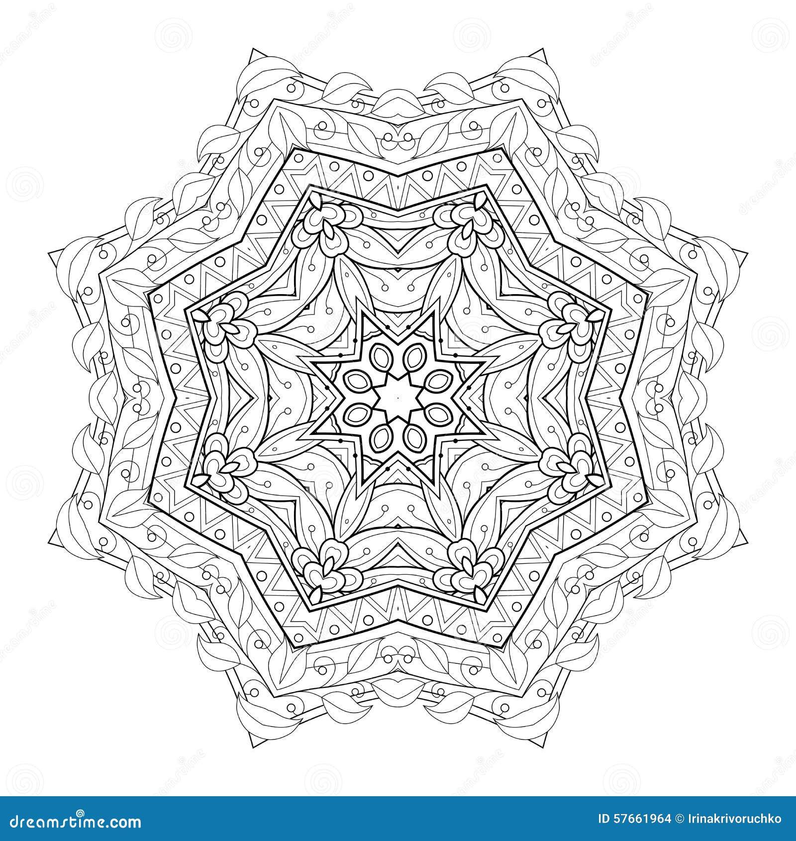Wektorowy Piękny Deco czerni mandala