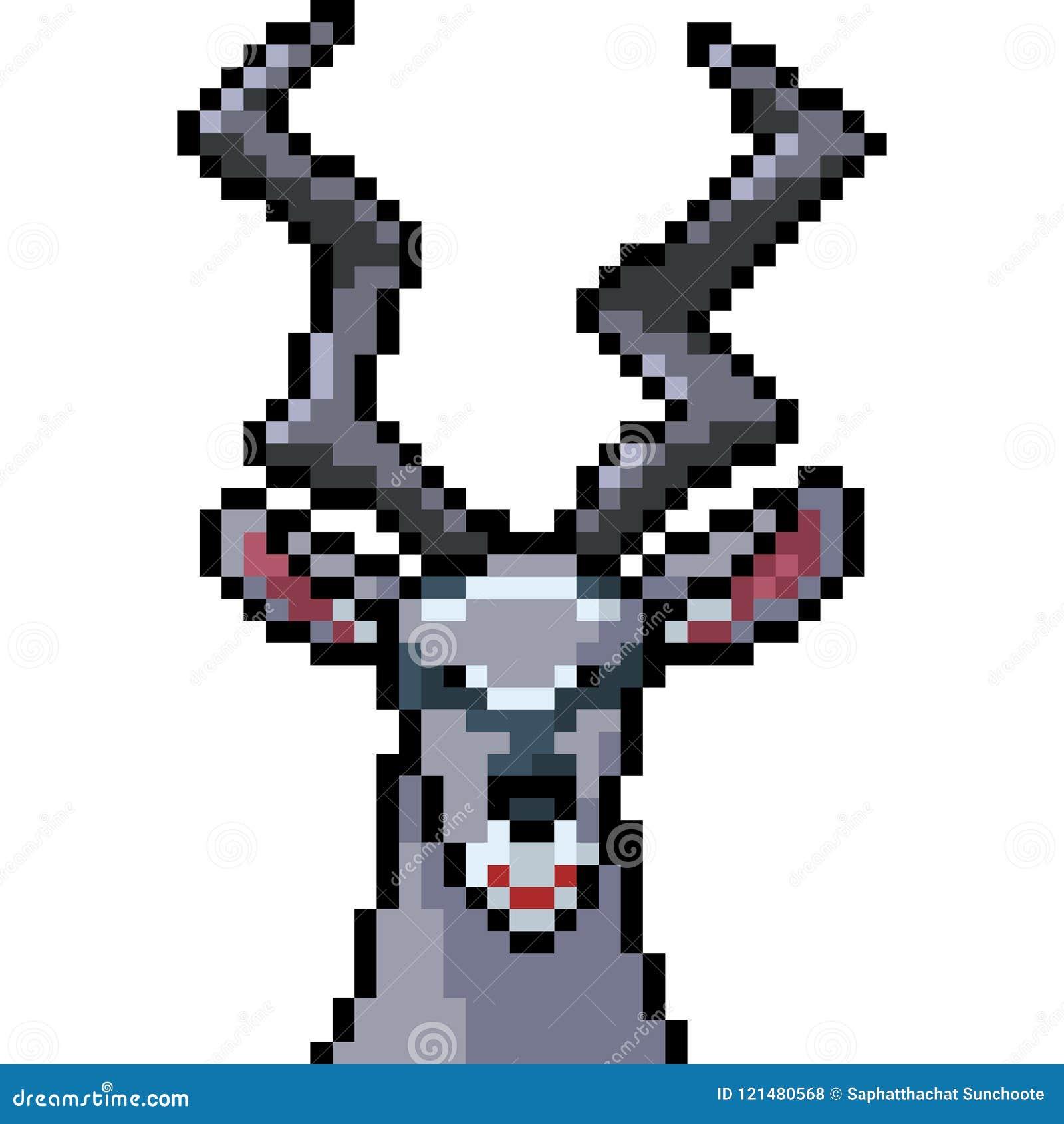 Wektorowy piksel sztuki addax