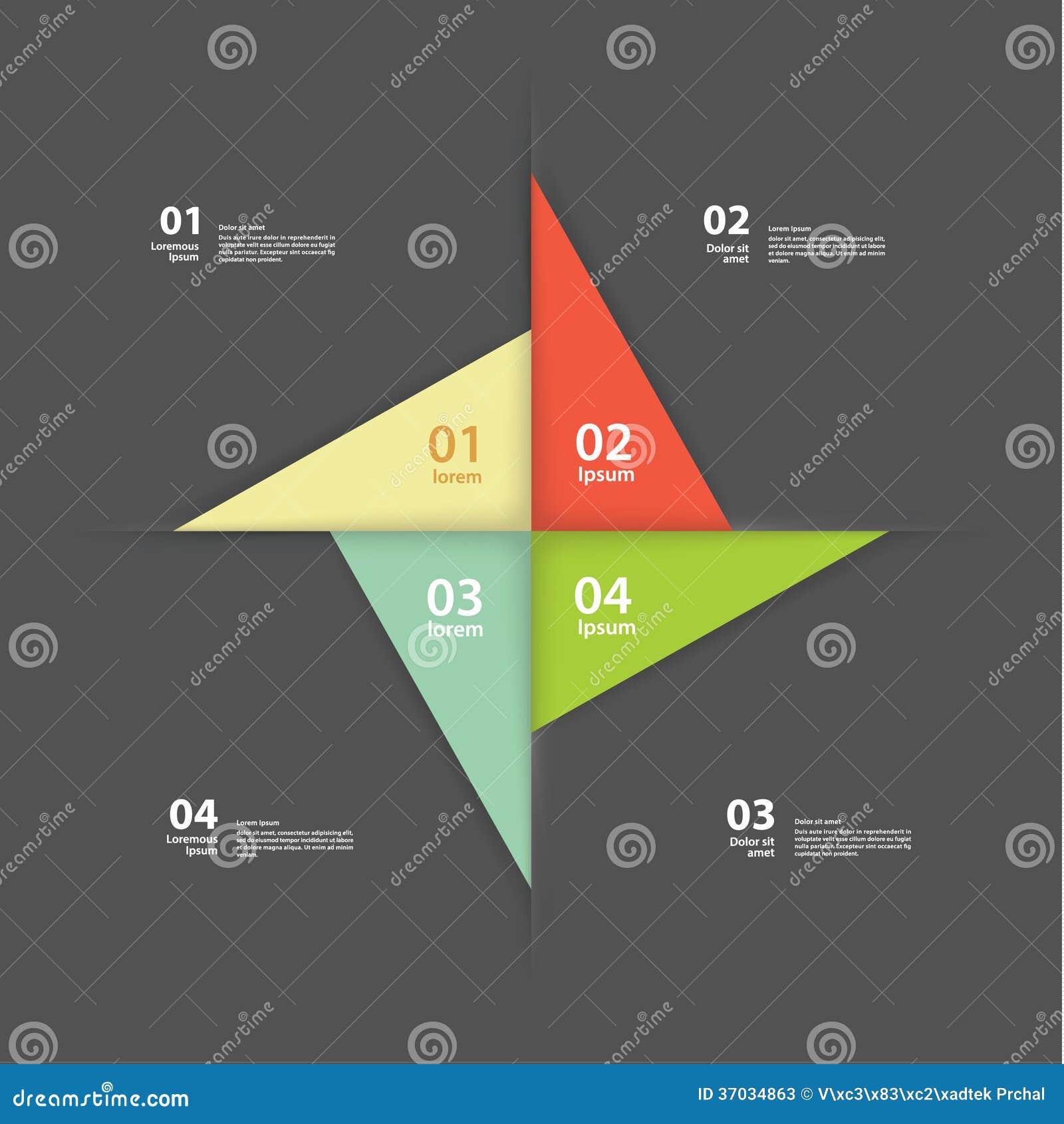 Wektorowy pinwheel szablon. Abstrakcjonistyczny układ dla prezentaci lub wewnątrz