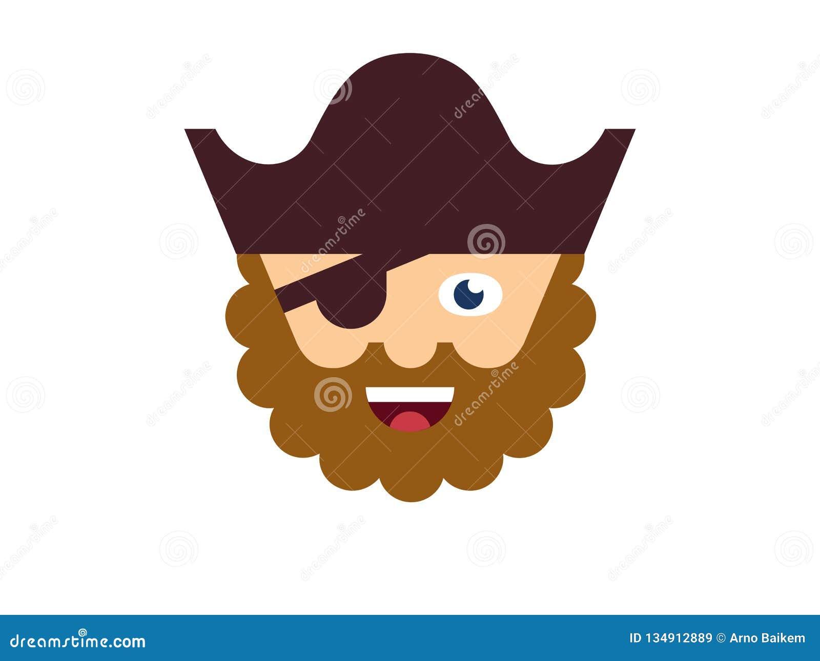 Wektorowy pirat na białym tle